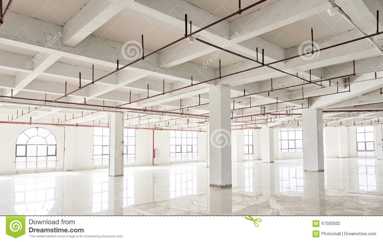 Commercial building under construction stock photo image for Office interior contractor