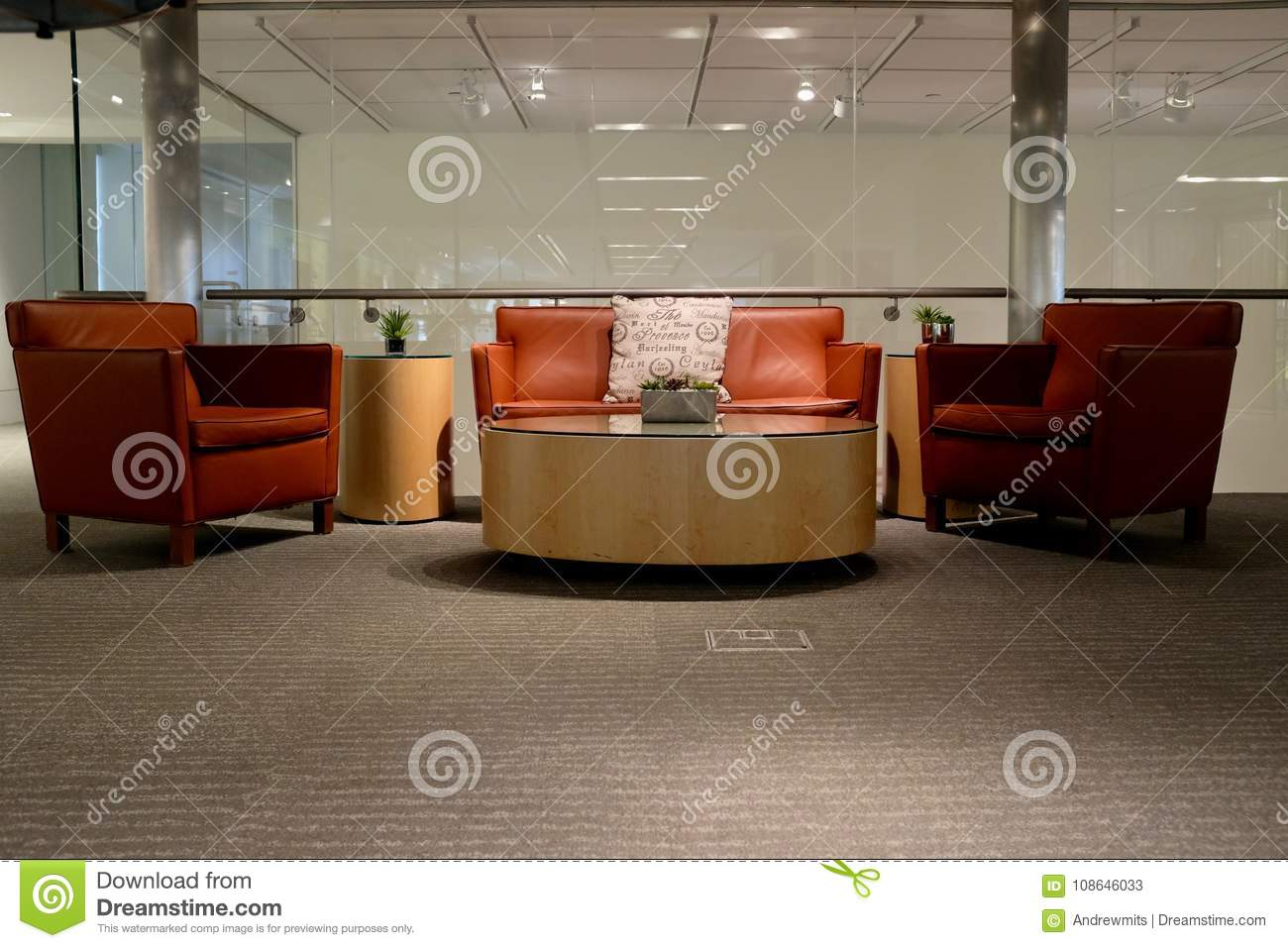 Stupendous Commercial Business Lobby Waiting Area Stock Image Image Pdpeps Interior Chair Design Pdpepsorg
