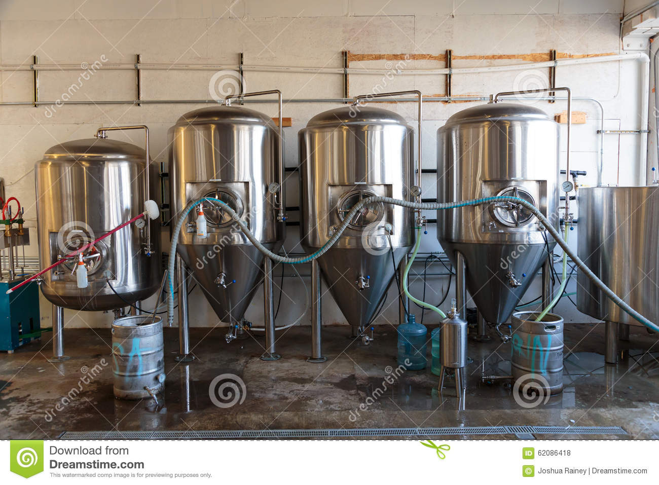 Commercial craft beer making at brewery editorial stock for Craft a brew fermenter