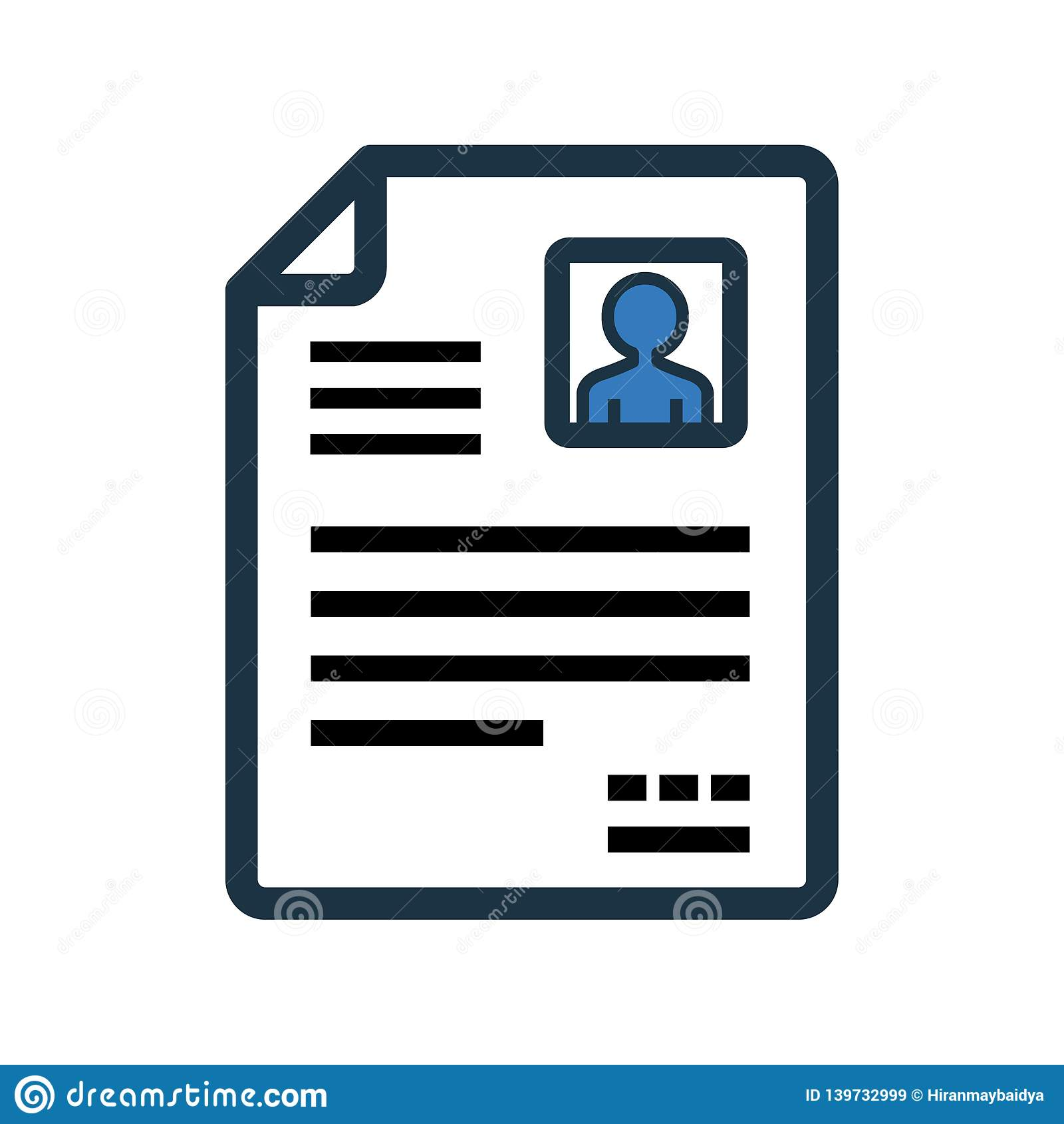 cv  resume vector icon stock illustration  illustration of