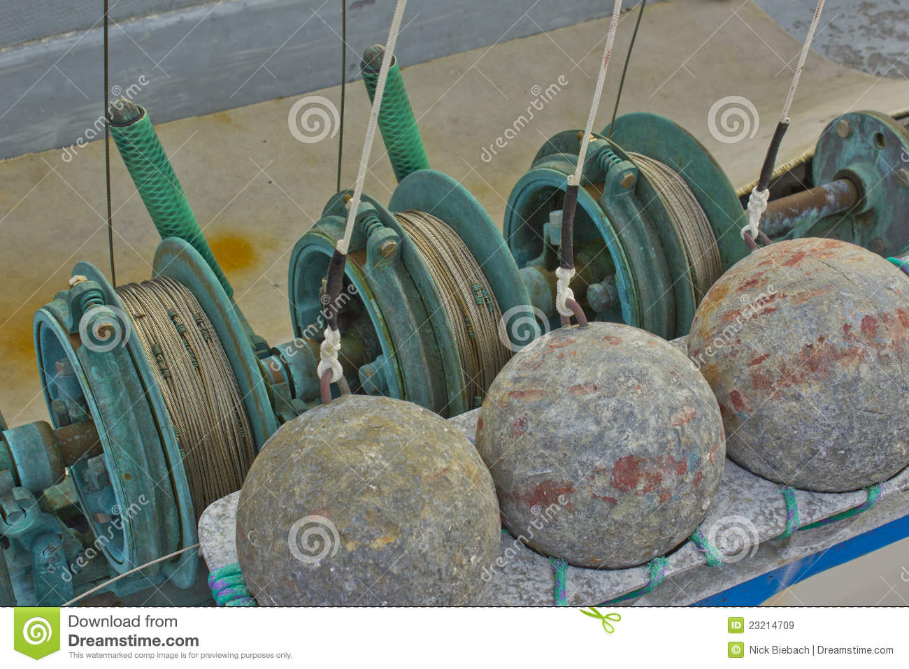 Commercial downrigger fishing gear stock image image for Commercial fishing supplies