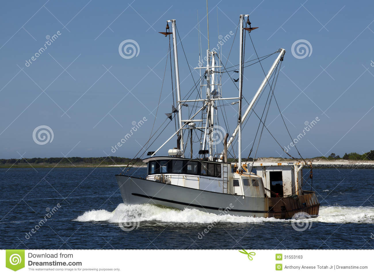 Commercial fishing boat stock image image of wake nobody for Fishing license nj
