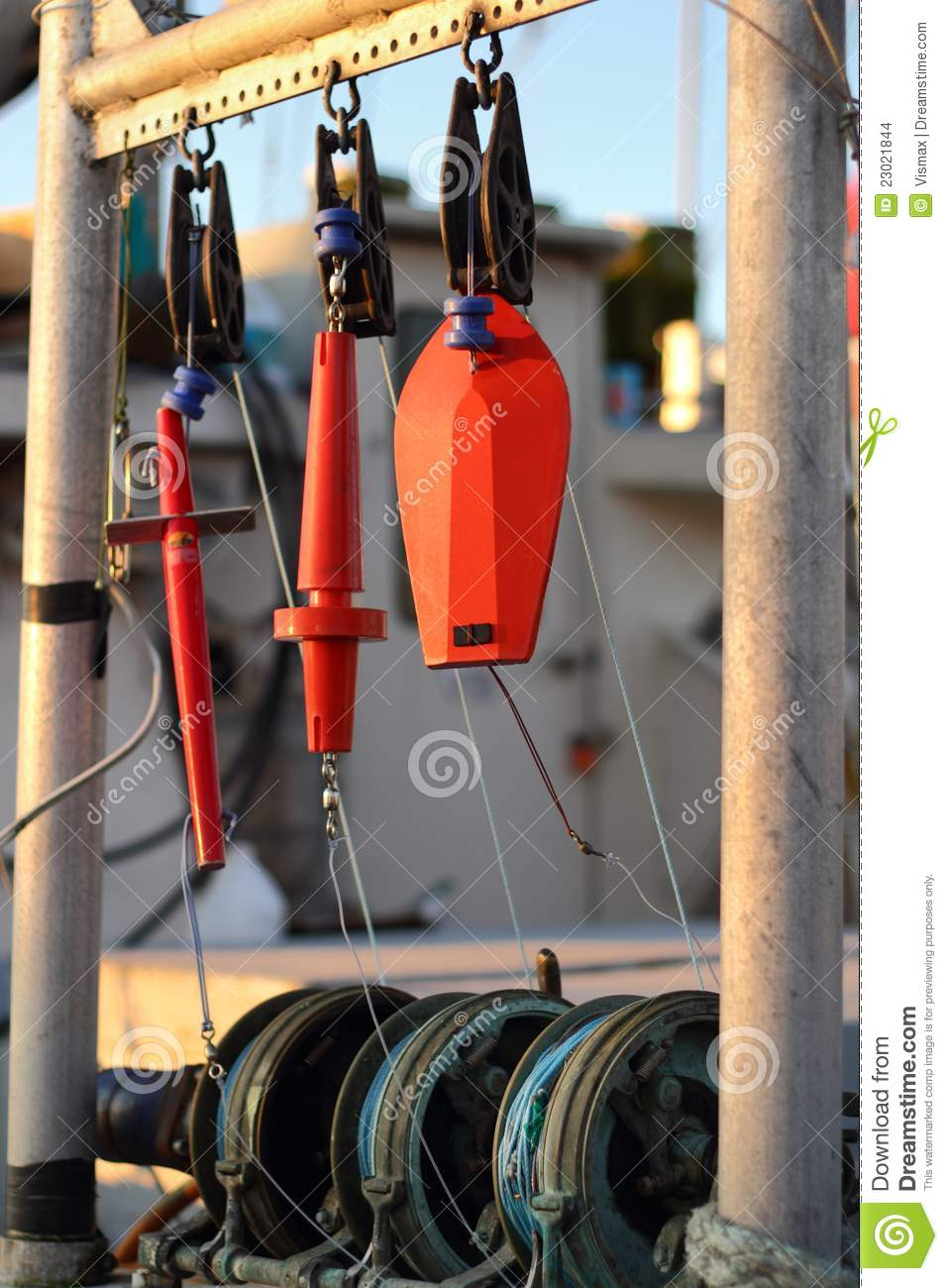 Commercial fishing equipment stock images image 23021844 for Commercial fishing gear