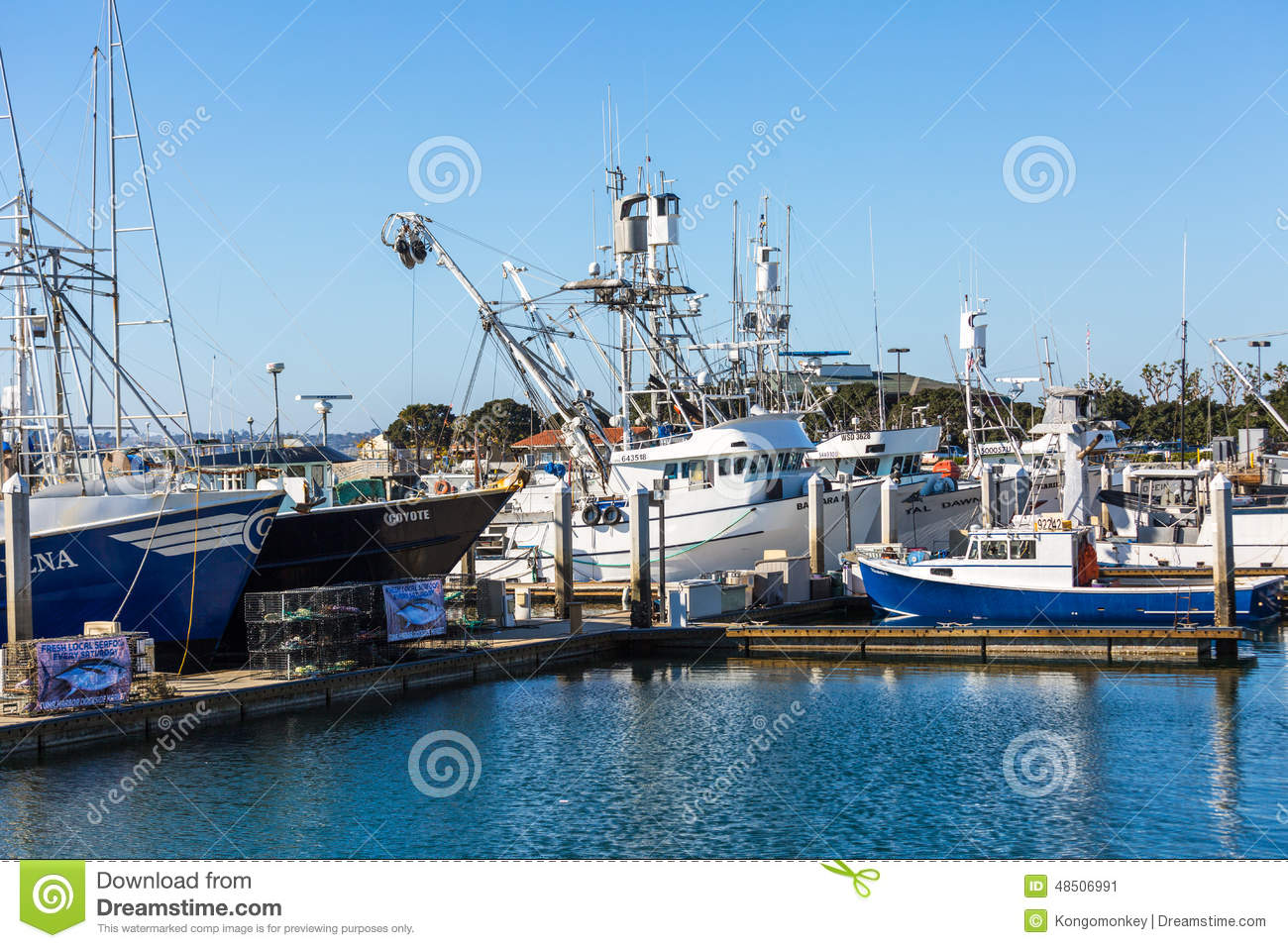 Commercial fishing fleet editorial photo image 48506991 for Fishing license san diego