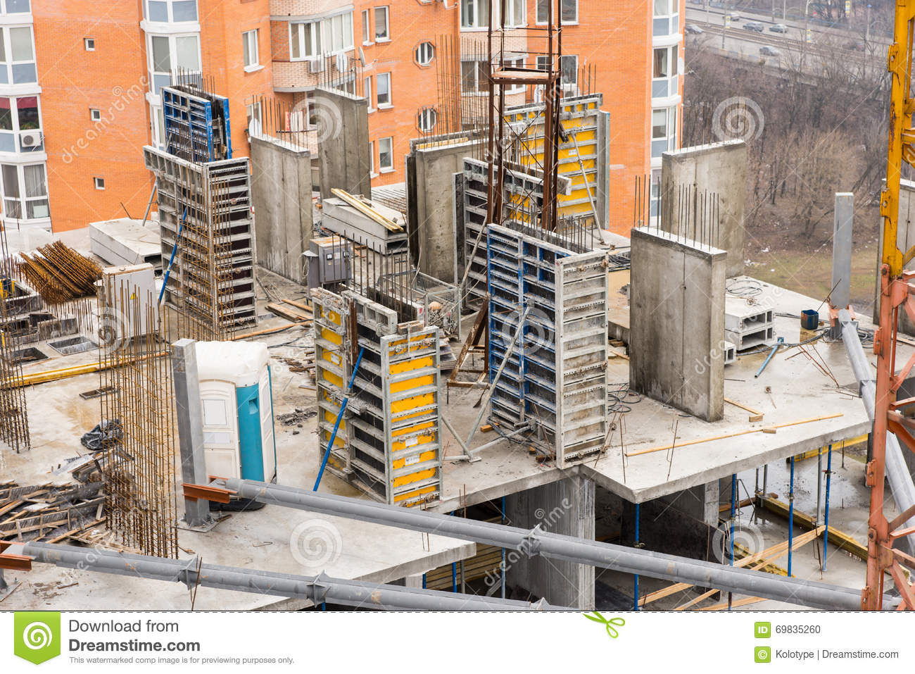 Build a modern city viewed from high rise royalty free for Build best construction