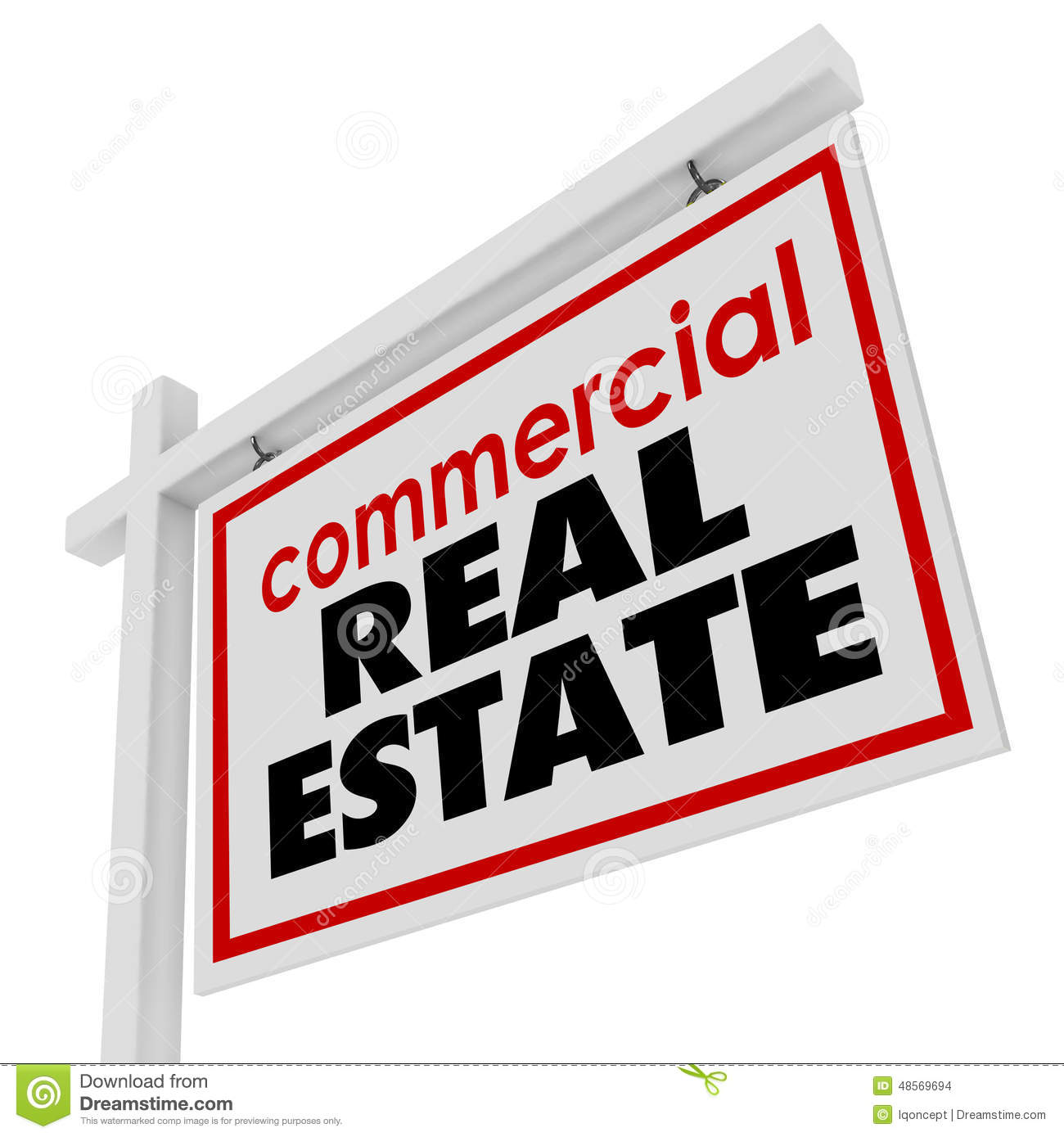 Commercial Property Building : Commercial real estate sign building office business for