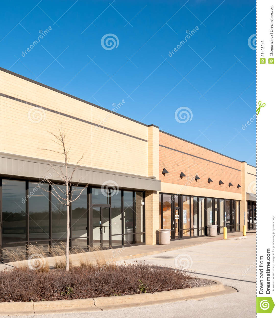 Retail Store Front: Commercial, Retail And Office Building Royalty Free Stock