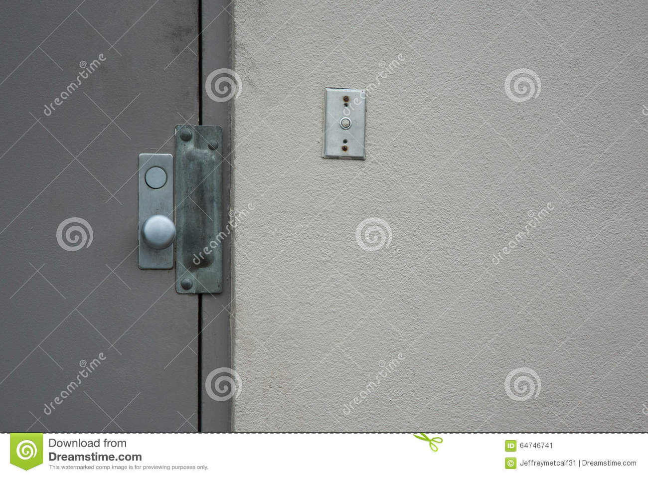 Commercial Security Doors commercial security door stock photo - image: 64746741