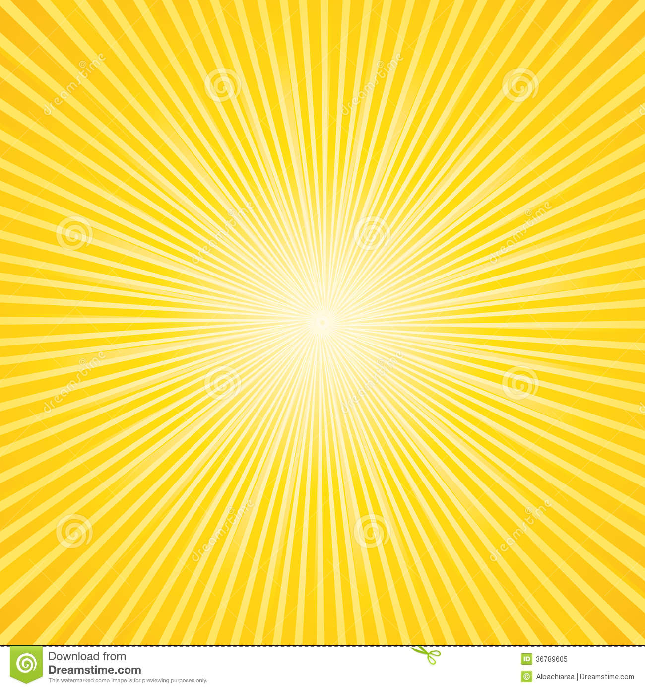 Commercial Sunburst Background Stock Vector