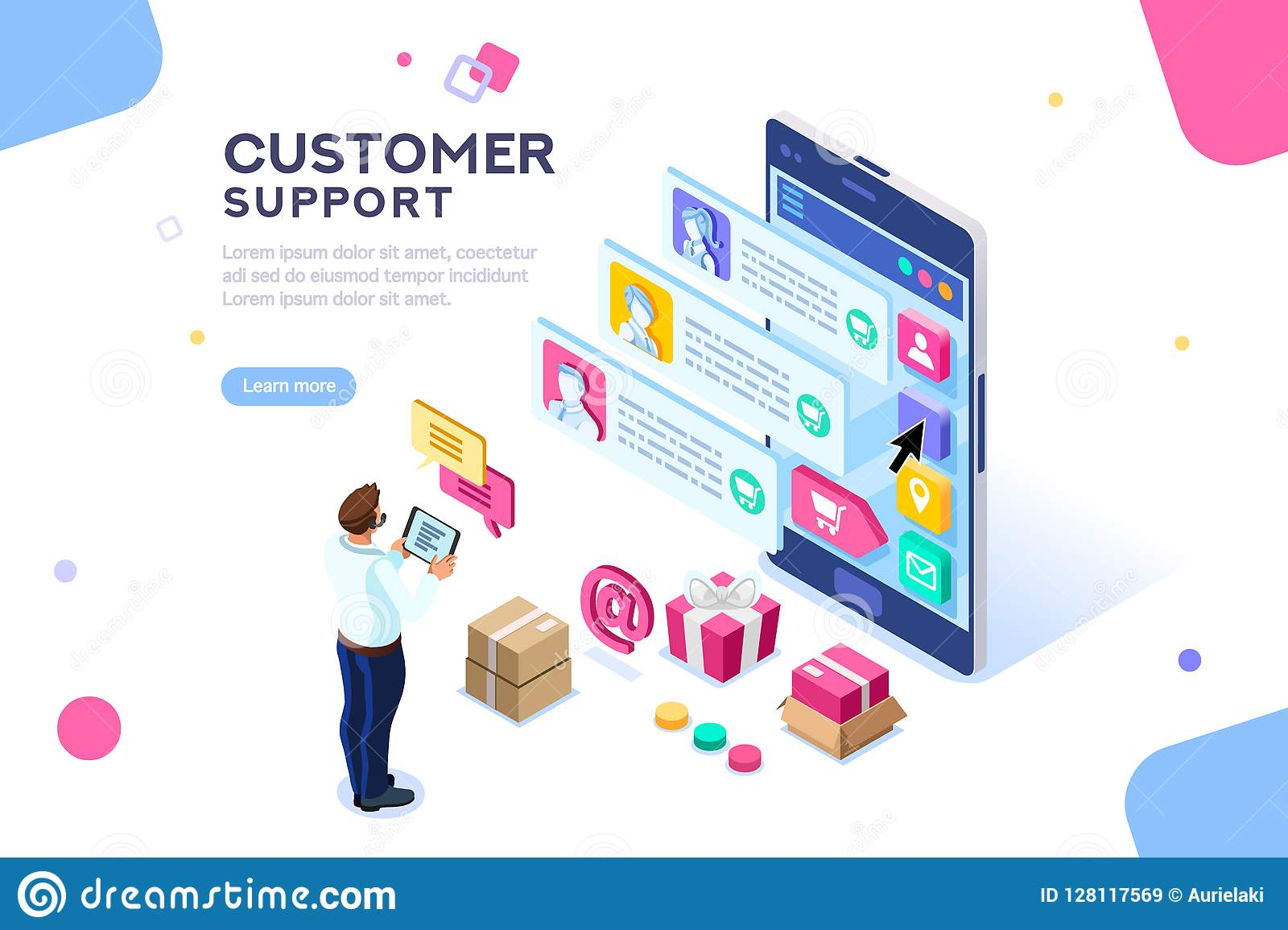 Commercial Customer Support Editable Template Website