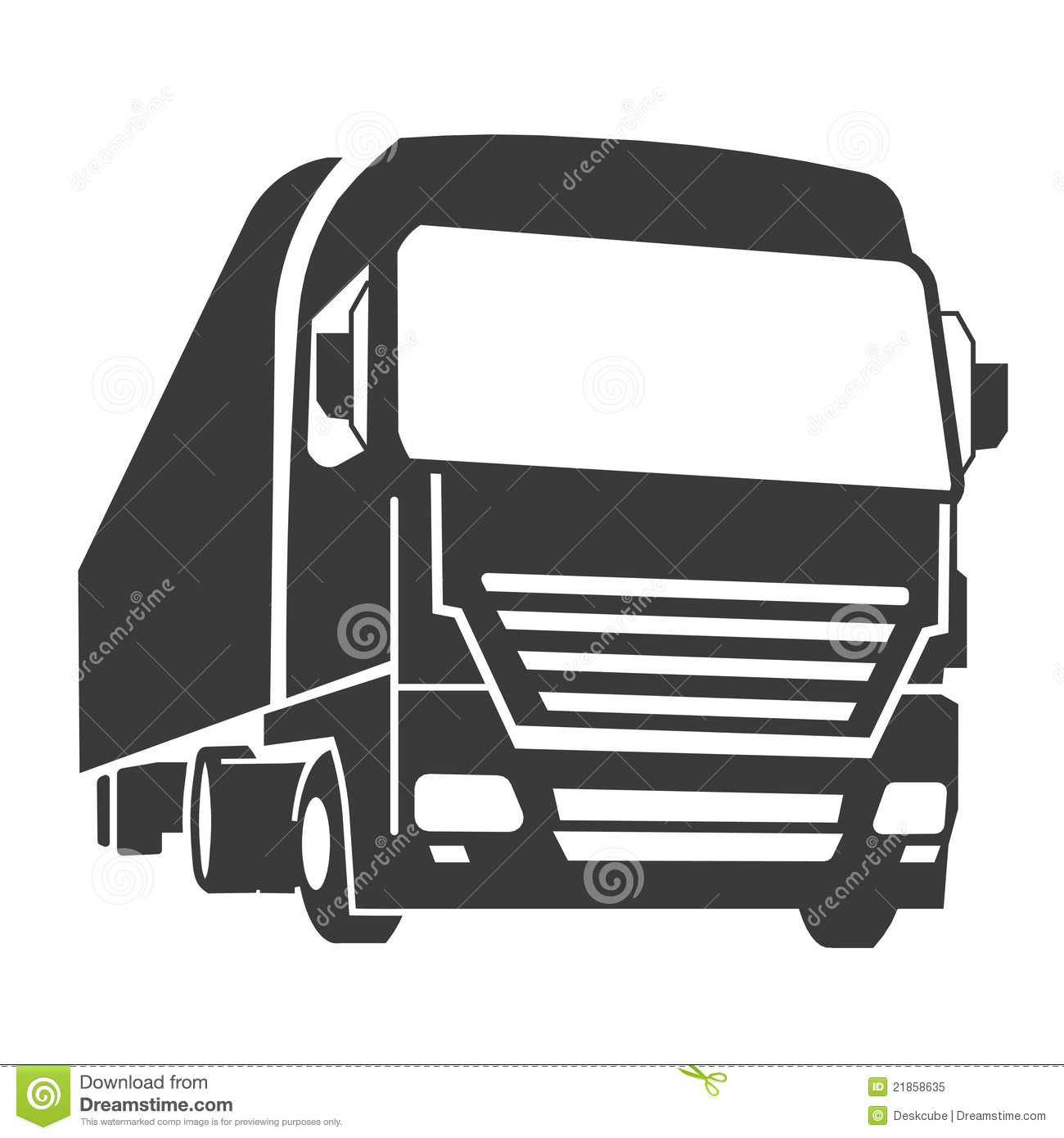 Fabulous Commercial truck stock vector. Illustration of cartoon - 21858635 QL37