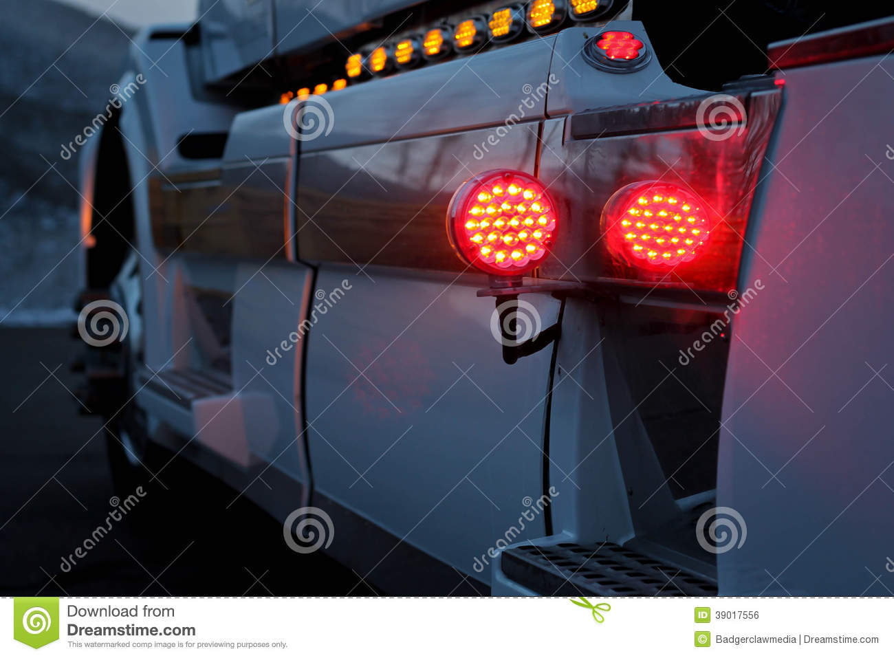 COMMERCIAL TRUCK WITH CUSTOM CHROME and LIGHTING & COMMERCIAL TRUCK WITH CUSTOM CHROME And LIGHTING Stock Photo - Image ...