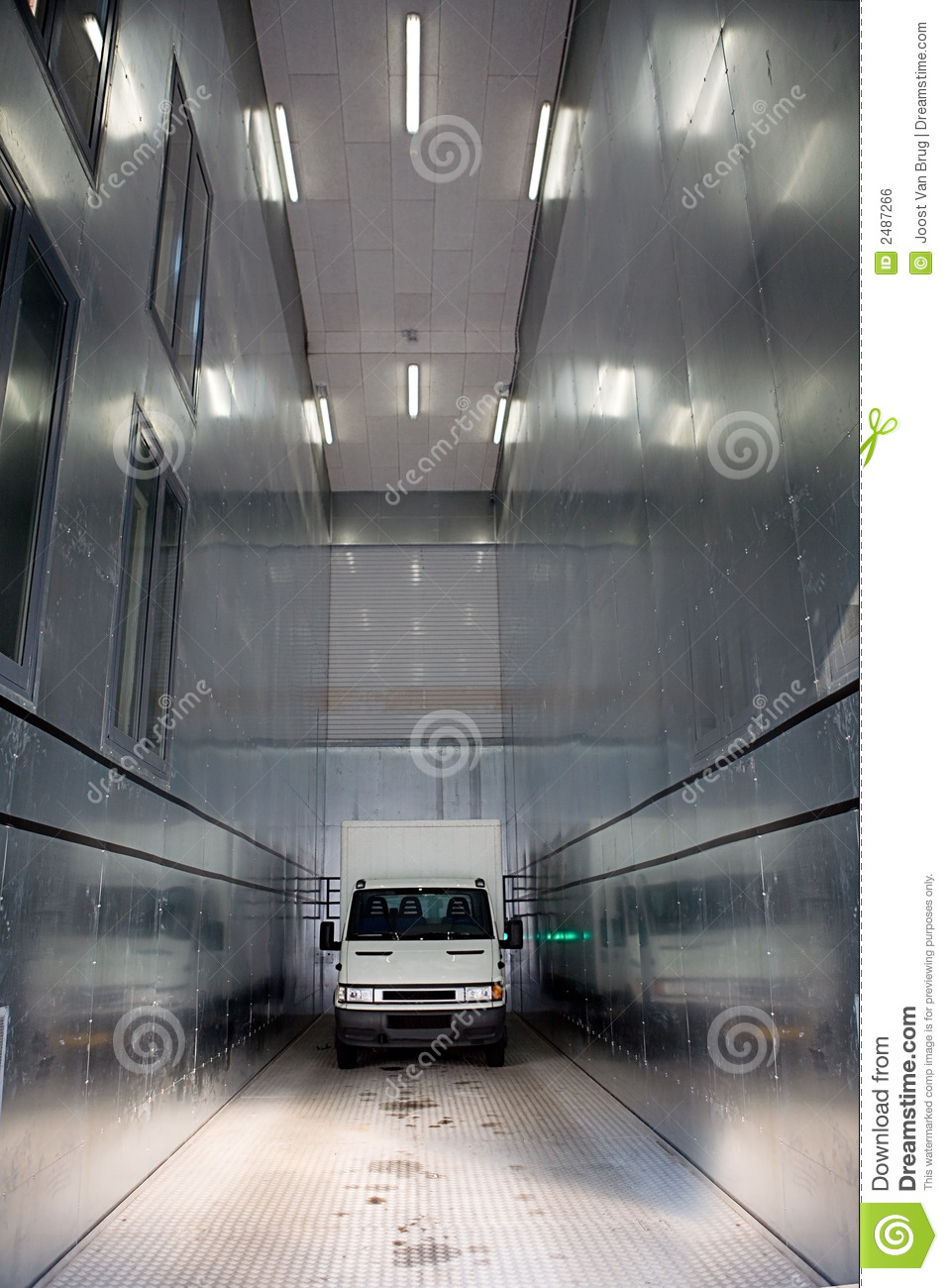 Inside Of A Semi Truck >> Commercial Vehicle Elevator Stock Photo - Image of inside ...