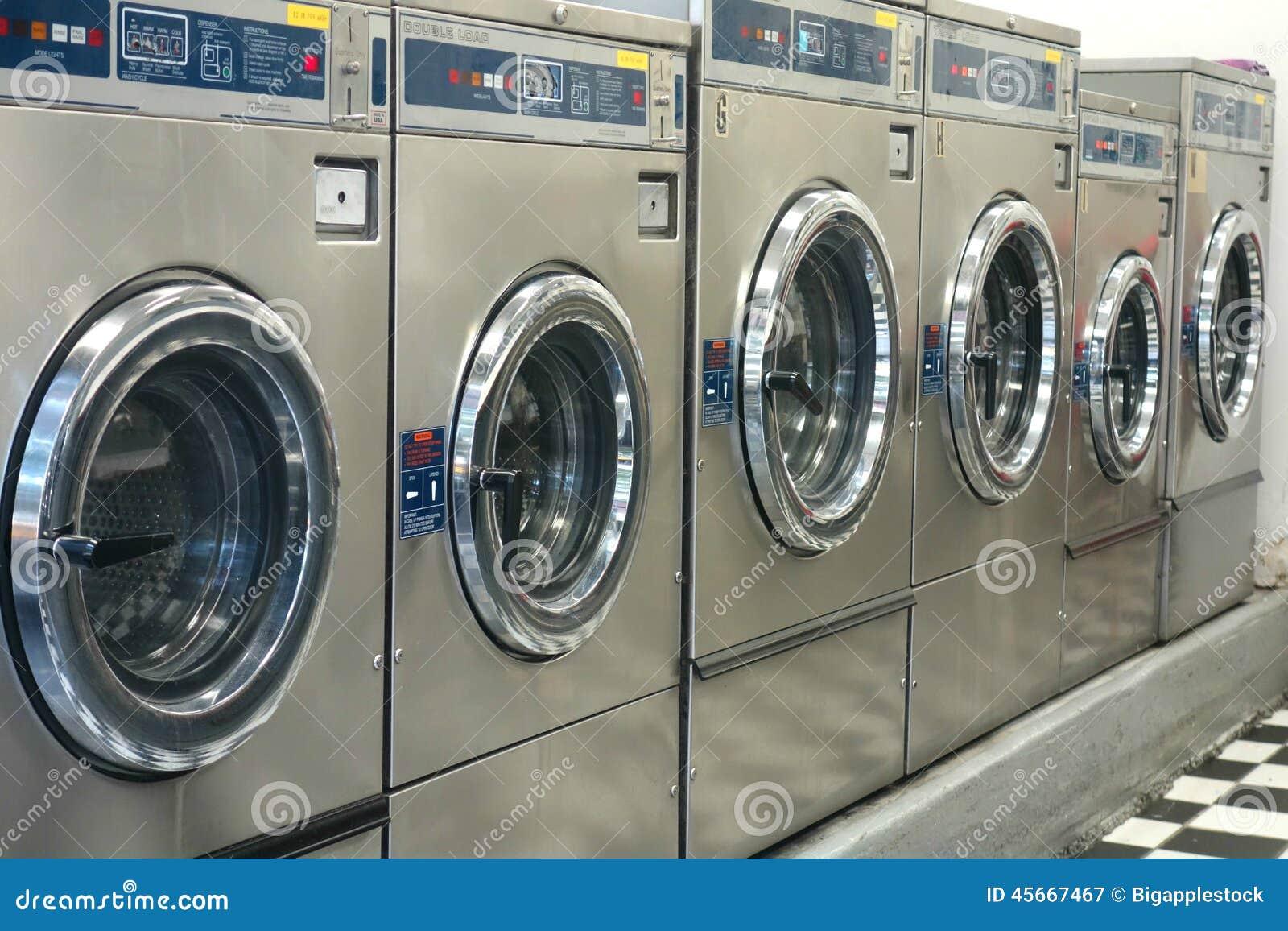 Commercial Washing Machines Stock Image - Image of machines