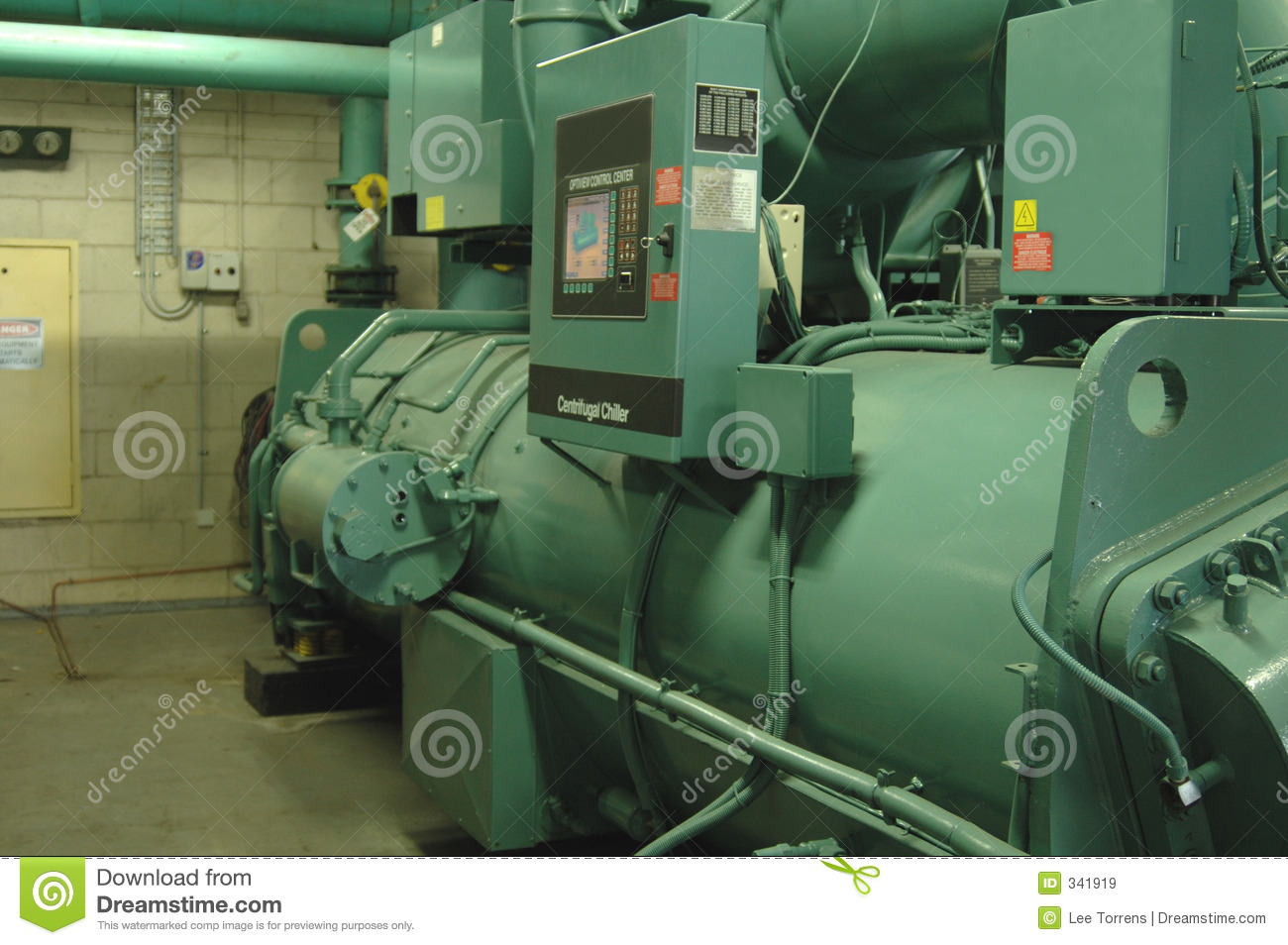 large commercial size water Chiller used to cool the water in a  #81A229