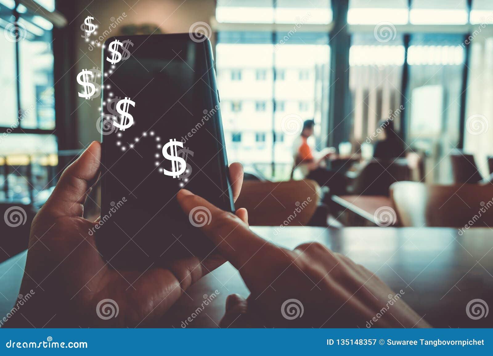 Commercializzi lo schermo di riserva dell icona del grafico del fondo dello smartphone Vita di sogno di affari di libertà finanzi
