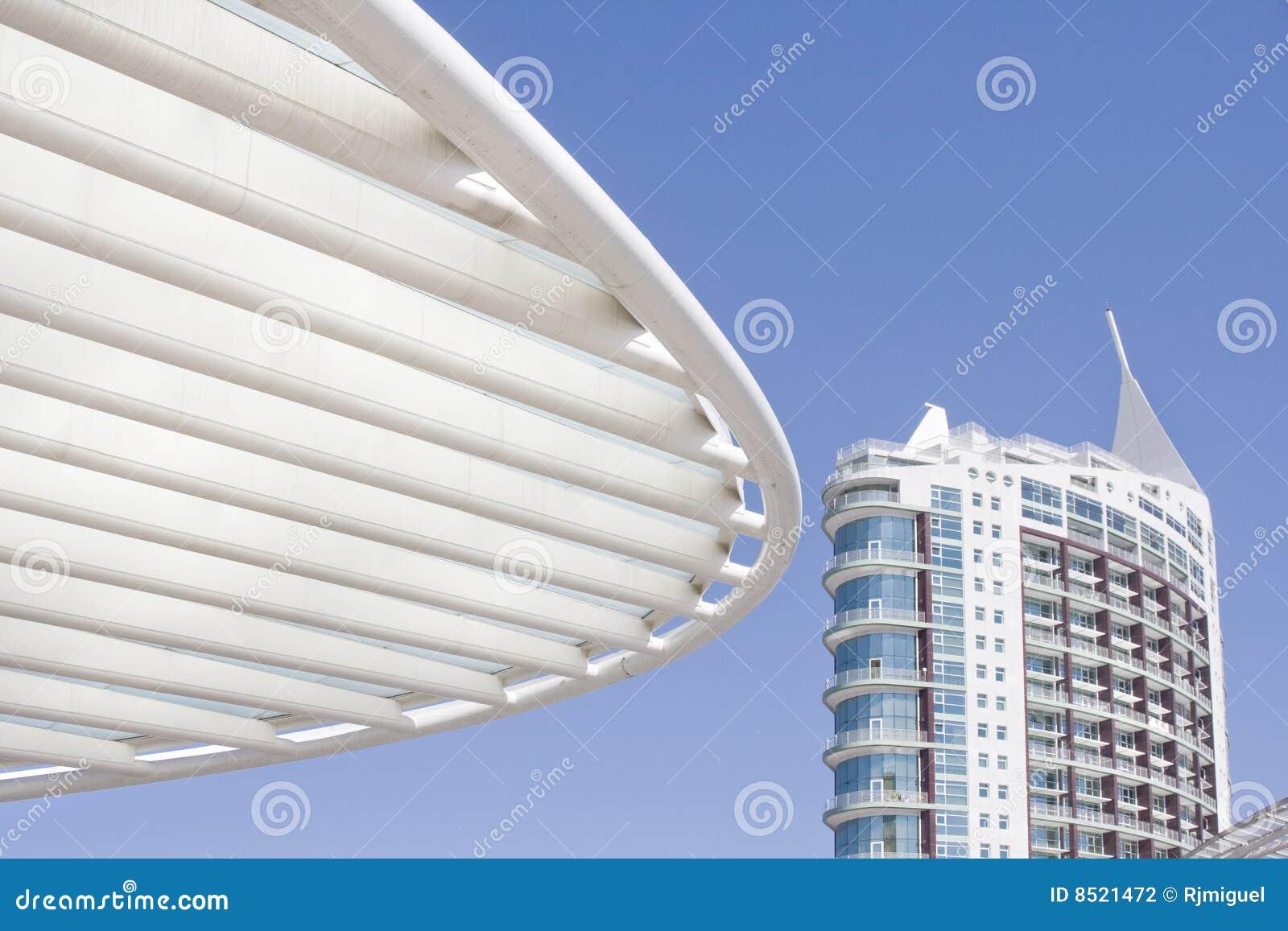 Commercieel centrum van de moderne architectuurbouw