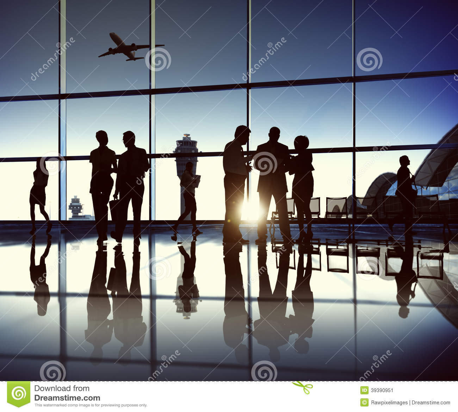 Commercieel Team bij de Luchthaven