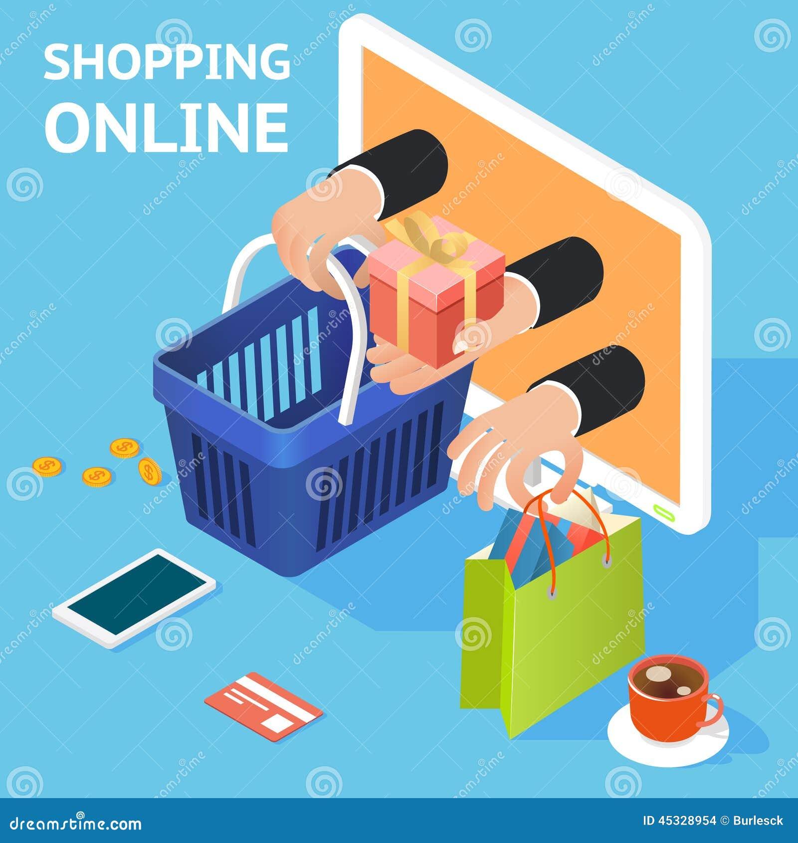 Commercio elettronico o concetto in linea di acquisto