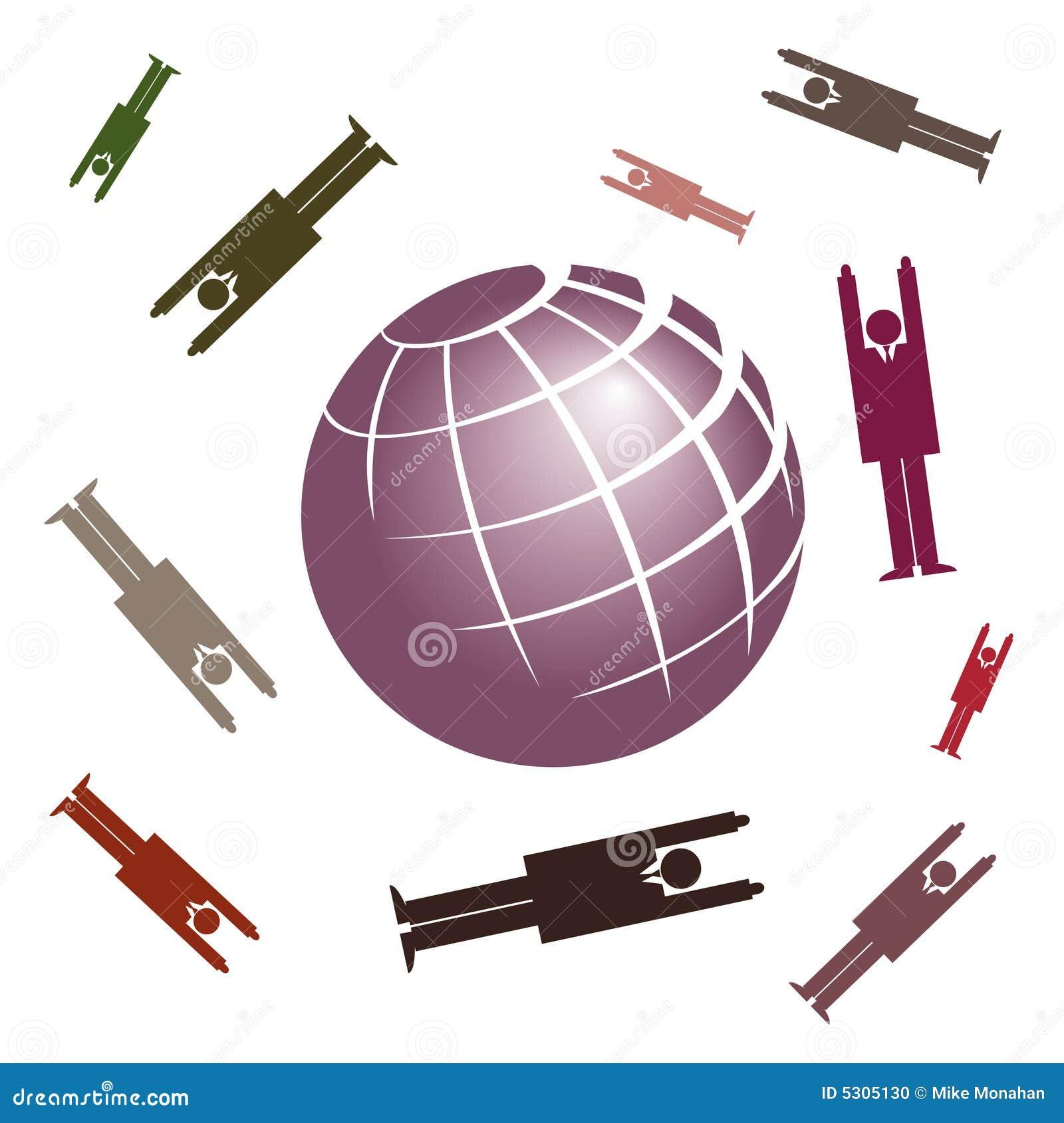 Download Commercio globale illustrazione vettoriale. Illustrazione di cerchio - 5305130