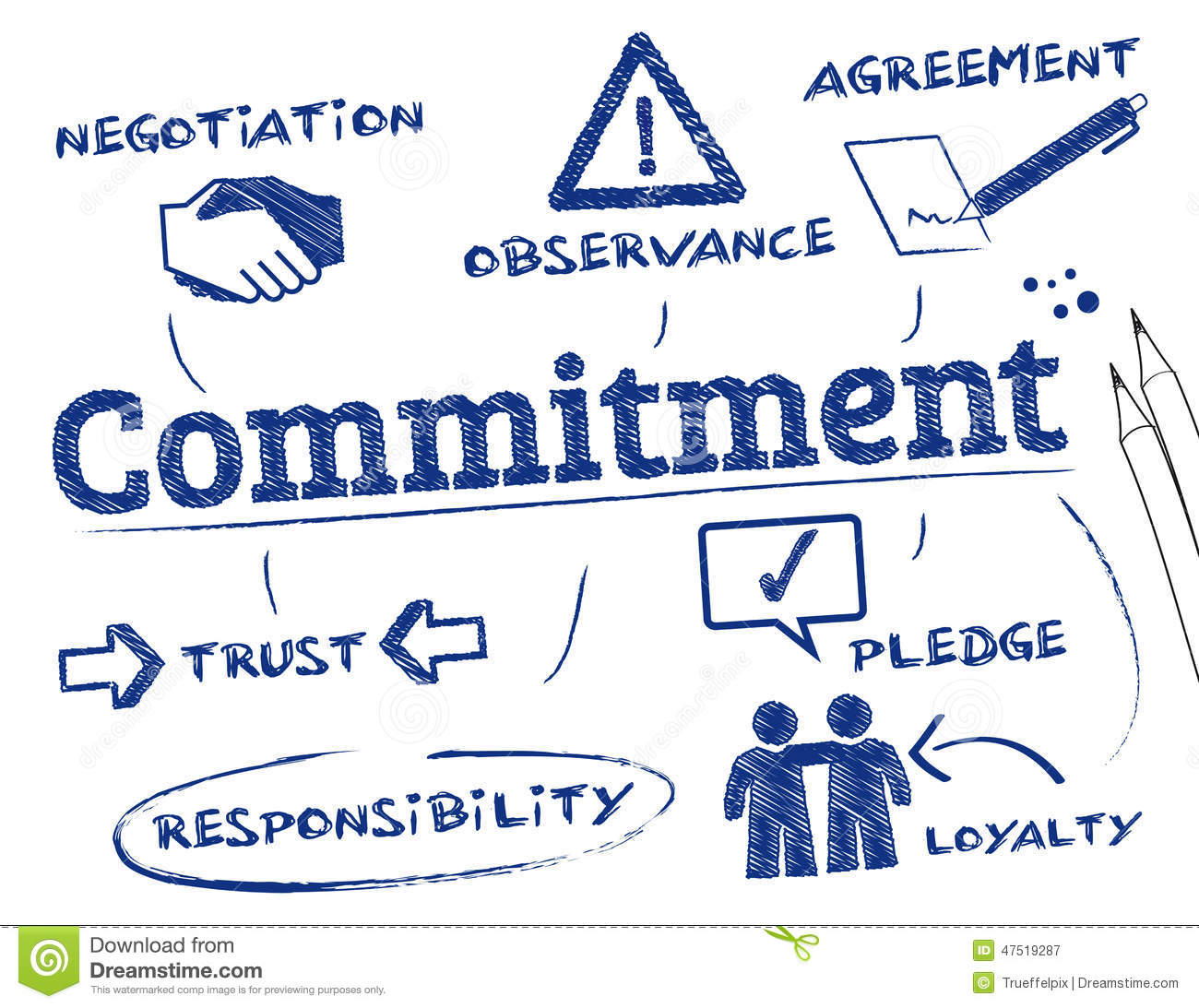 Commitment Stock Illustration - Image: 47519287