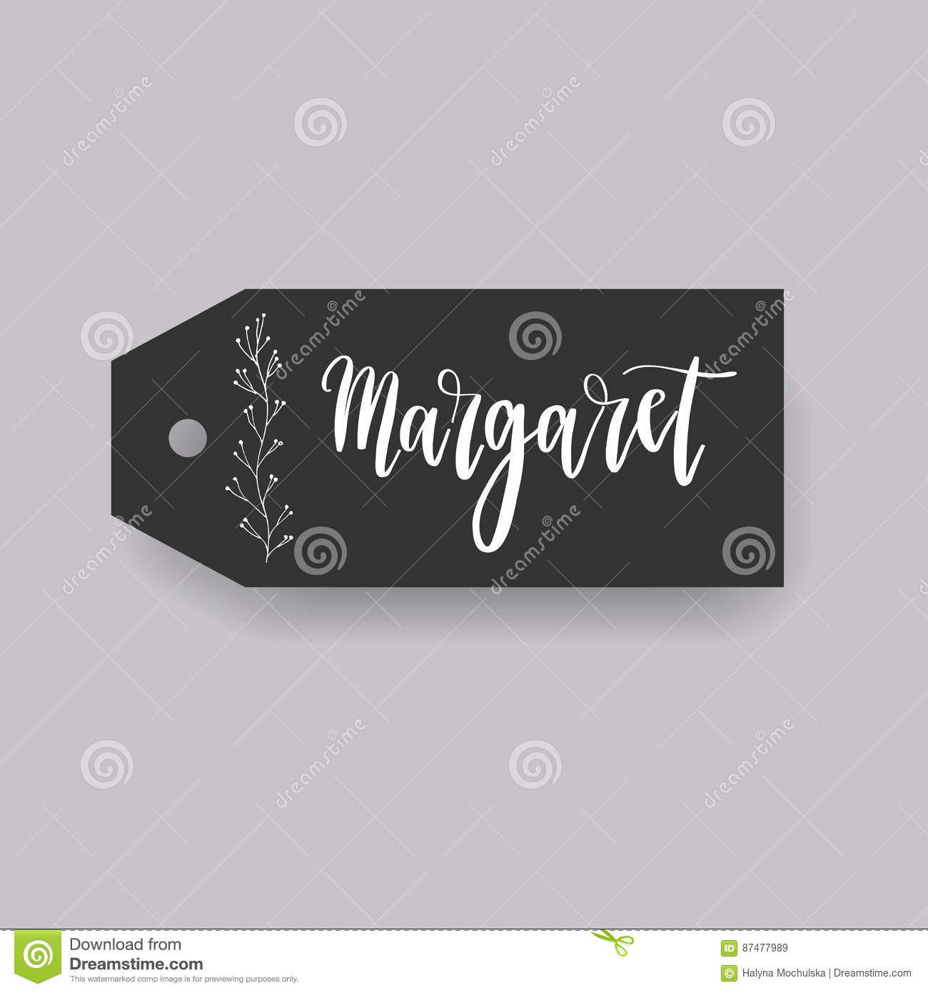 common female first name on a tag stock illustration illustration