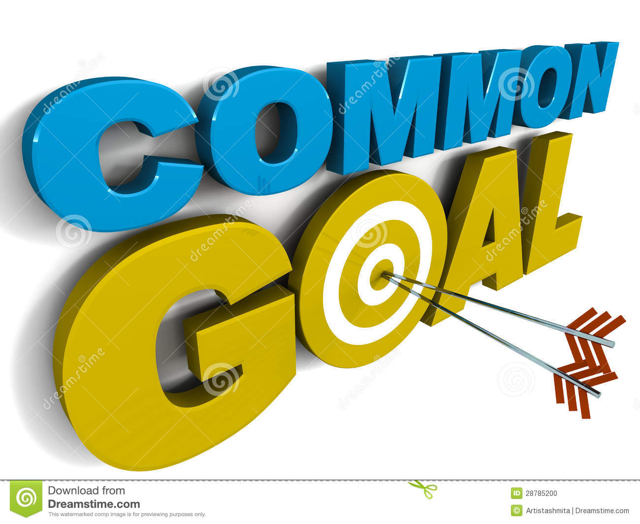 common goal stock illustration image of goal  achieved word clipart library words clip art free