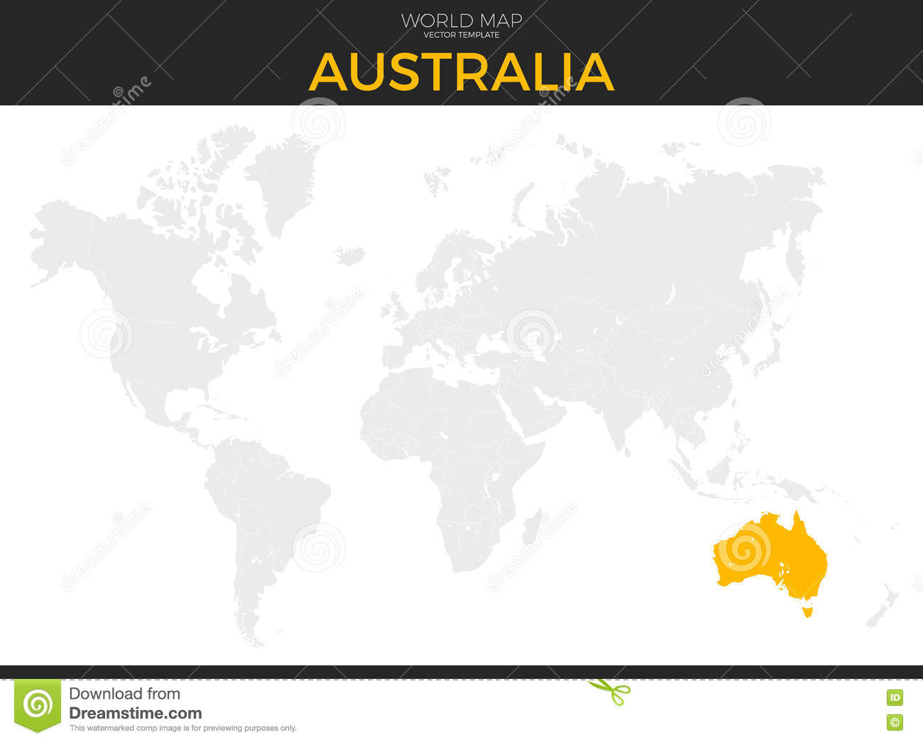 Australia Location Map.Commonwealth Of Australia Location Map Stock Vector Illustration