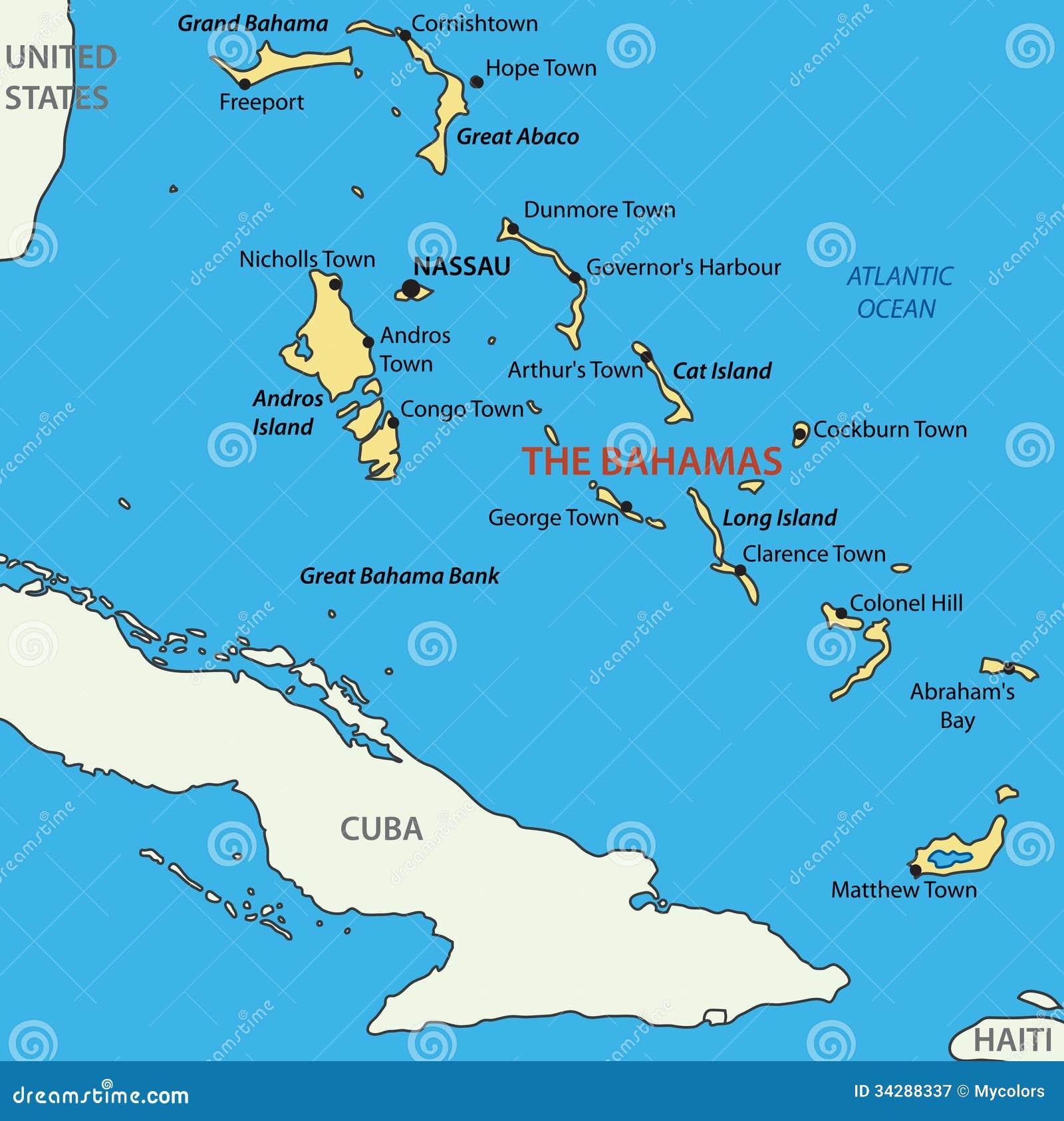 Habitat on web habitat technology group - Commonwealth Of The Bahamas Vector Map Royalty Free