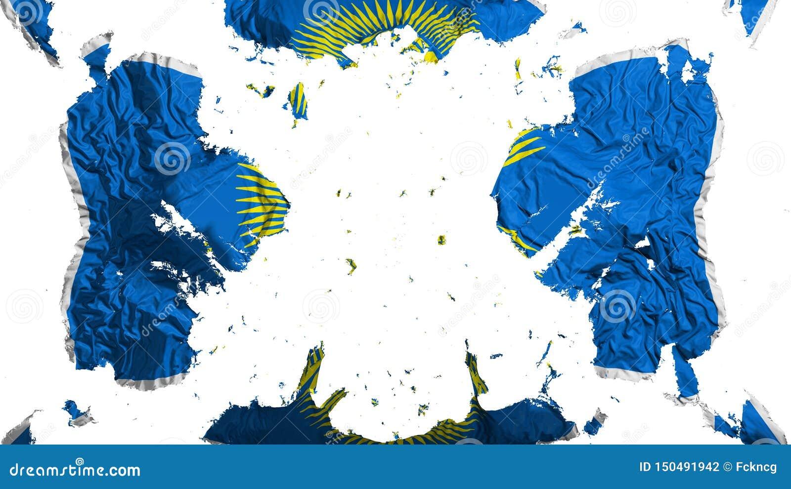 Commonwealth dispersé de drapeau de nations