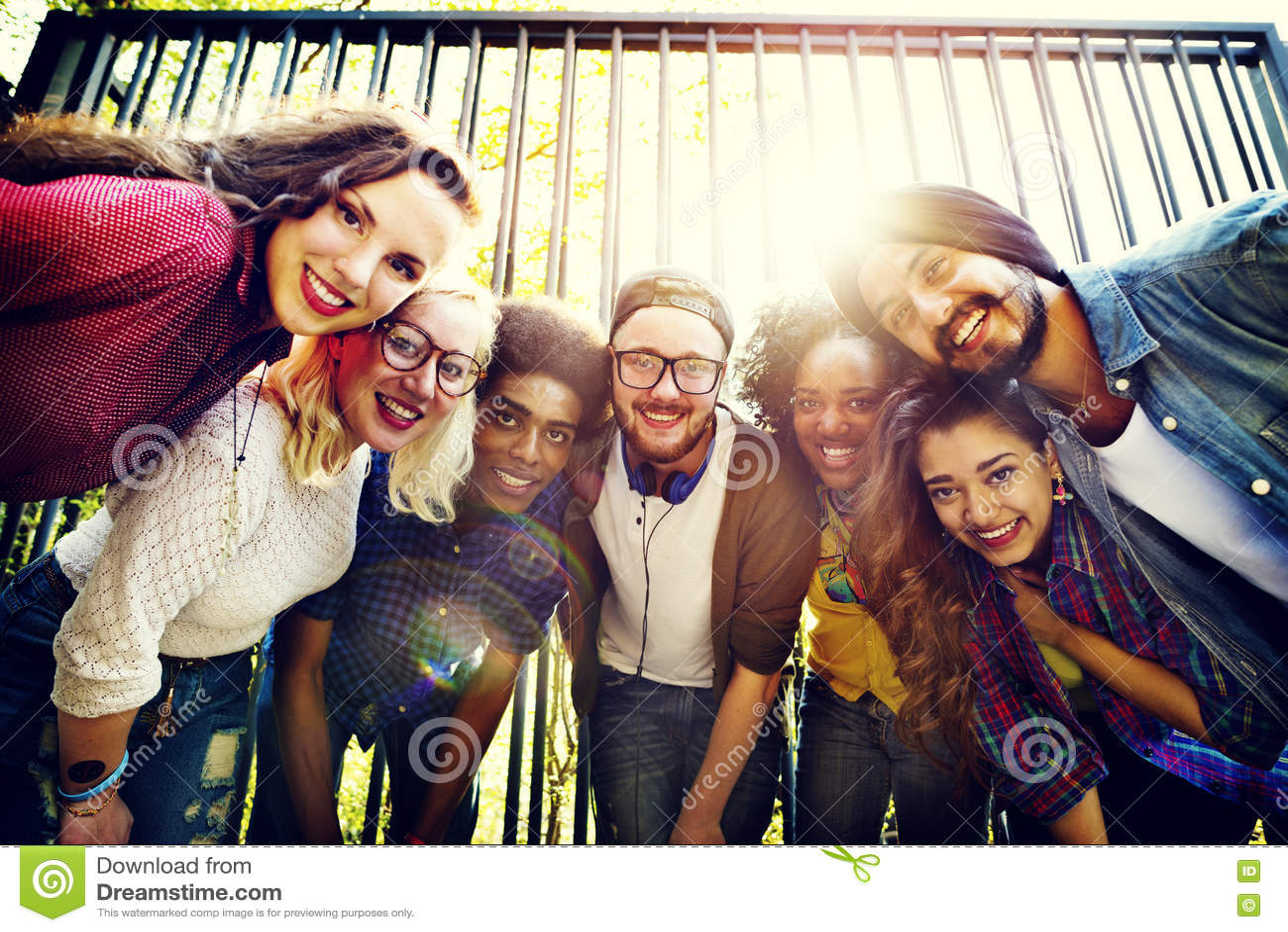 Communautaire Vrienden plakkend Team Togetherness Unity Concept