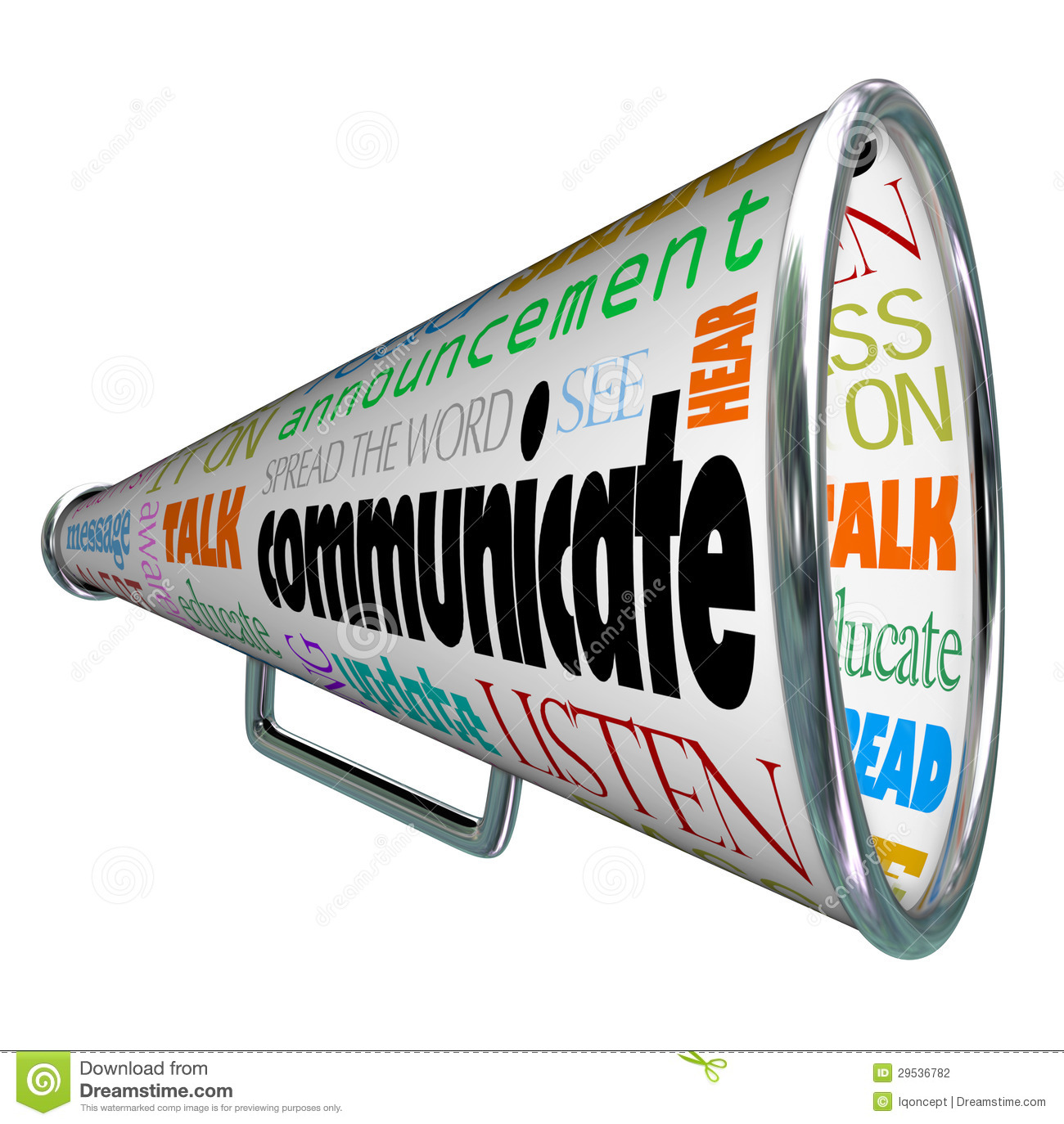 ... Bullhorn Megaphone Spread The Word Stock Photography - Image: 29536782