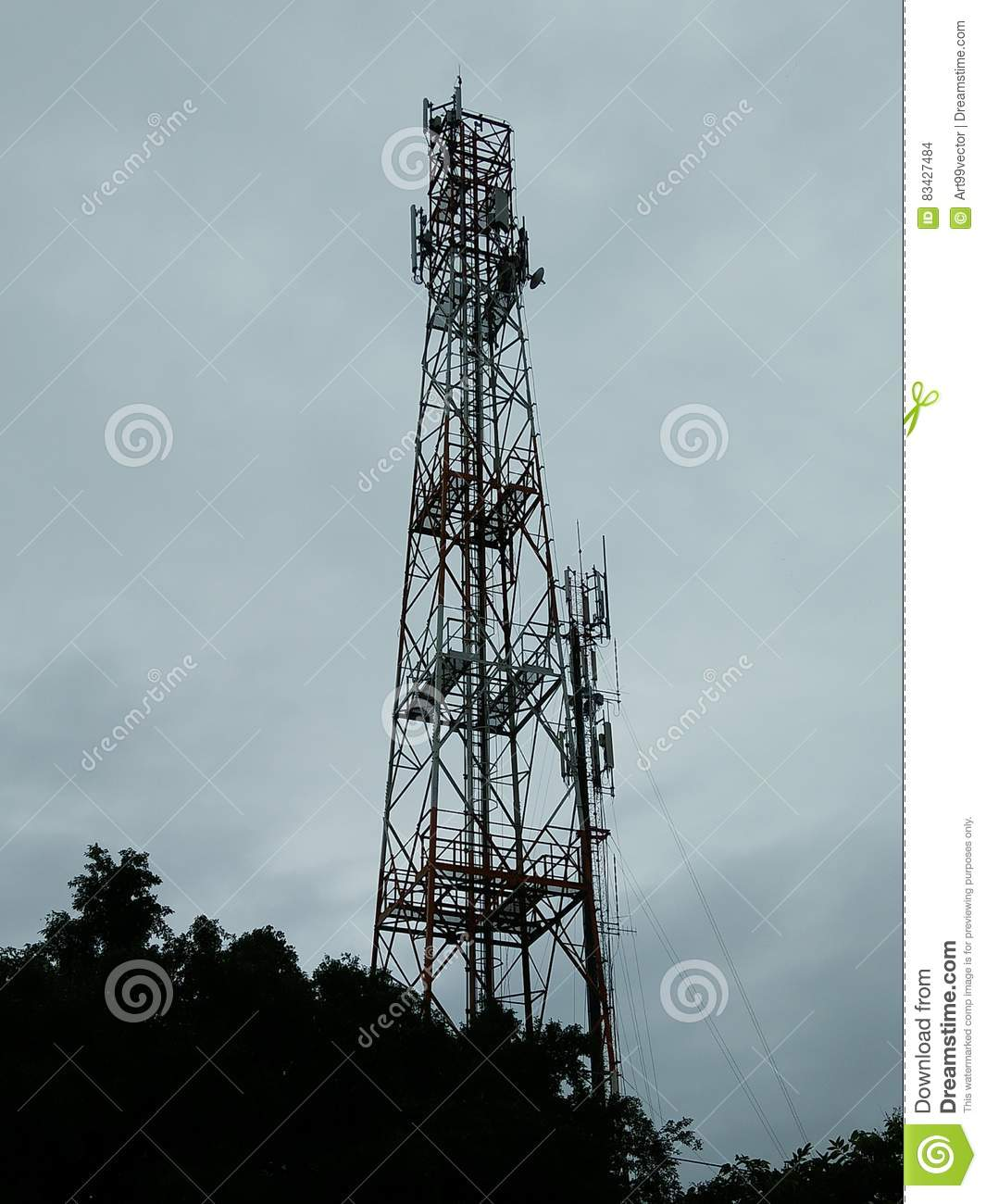 Communicate With The Cellular Network Stock Photo - Image of