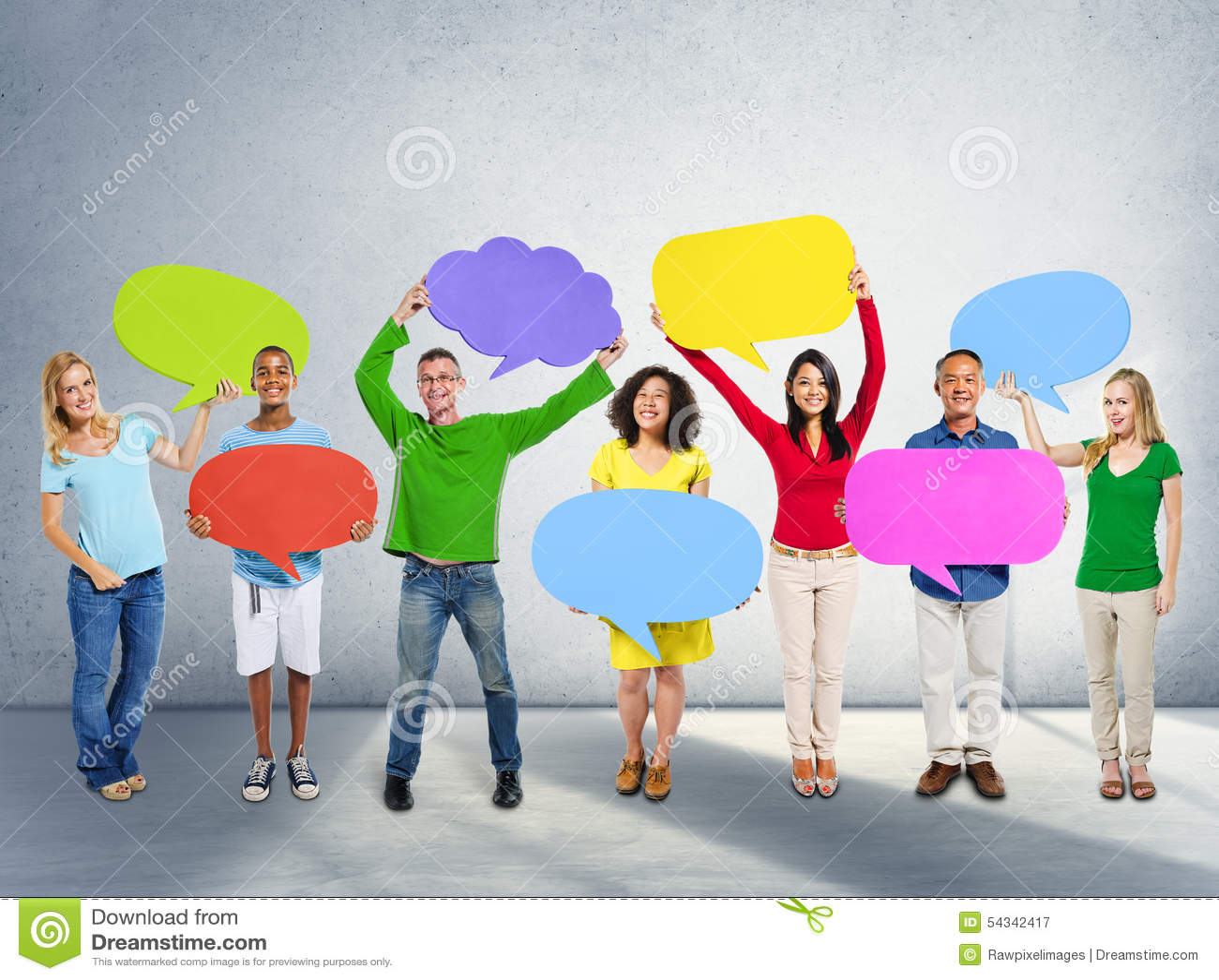 Communicatie van het diversiteitsbehoren tot een bepaald ras Globale Communautaire Mensen Concep