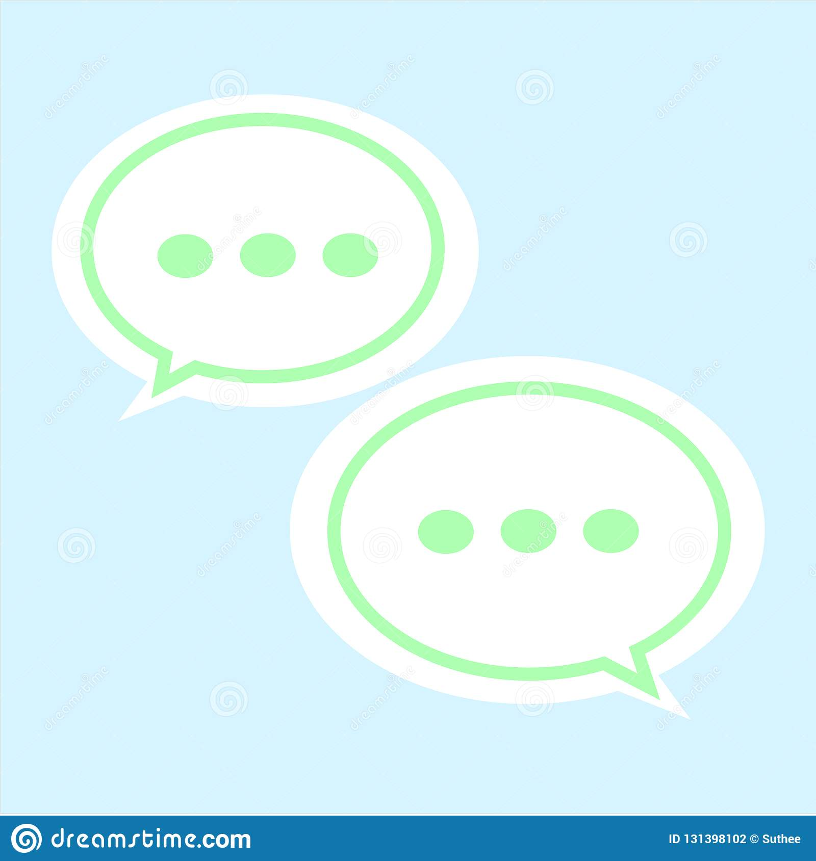 Communication Bubble Icon On White Background  Chatting Sign