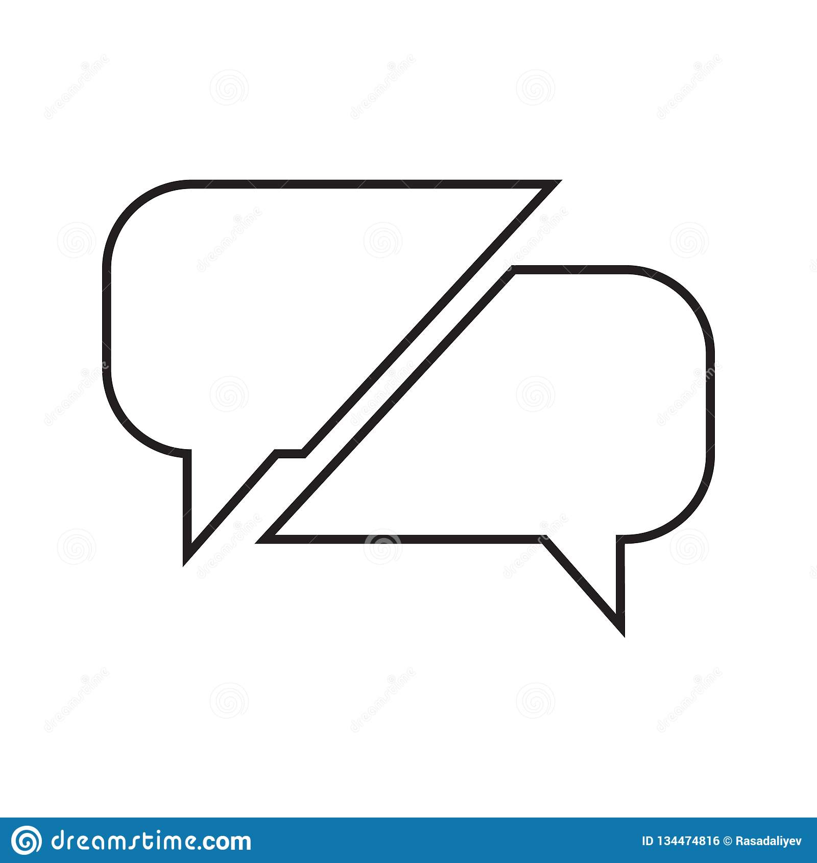 Communication bubbles icon. Element of Conversation and Friendship for mobile concept and web apps icon. Thin line icon for. Website design and development, app vector illustration