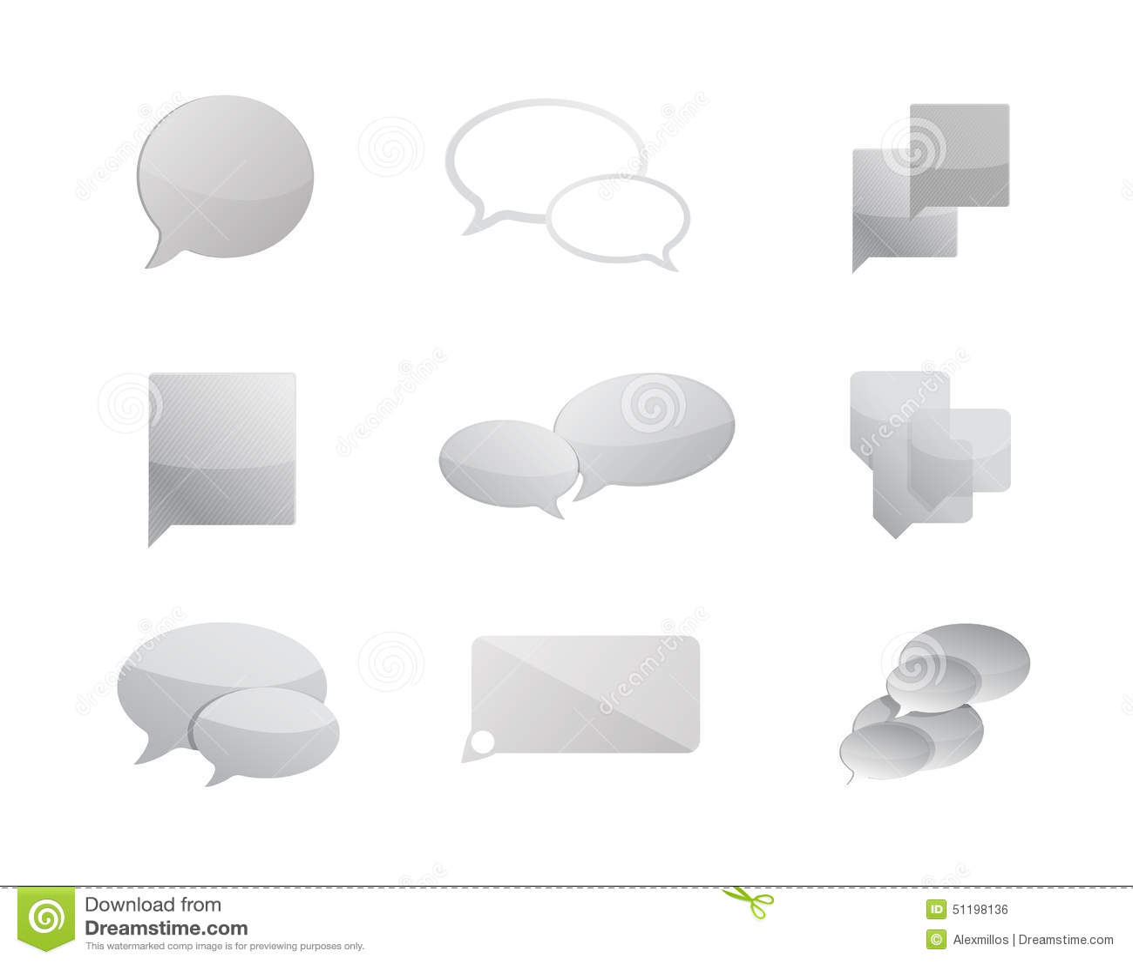 communication bubbles icon set illustration design