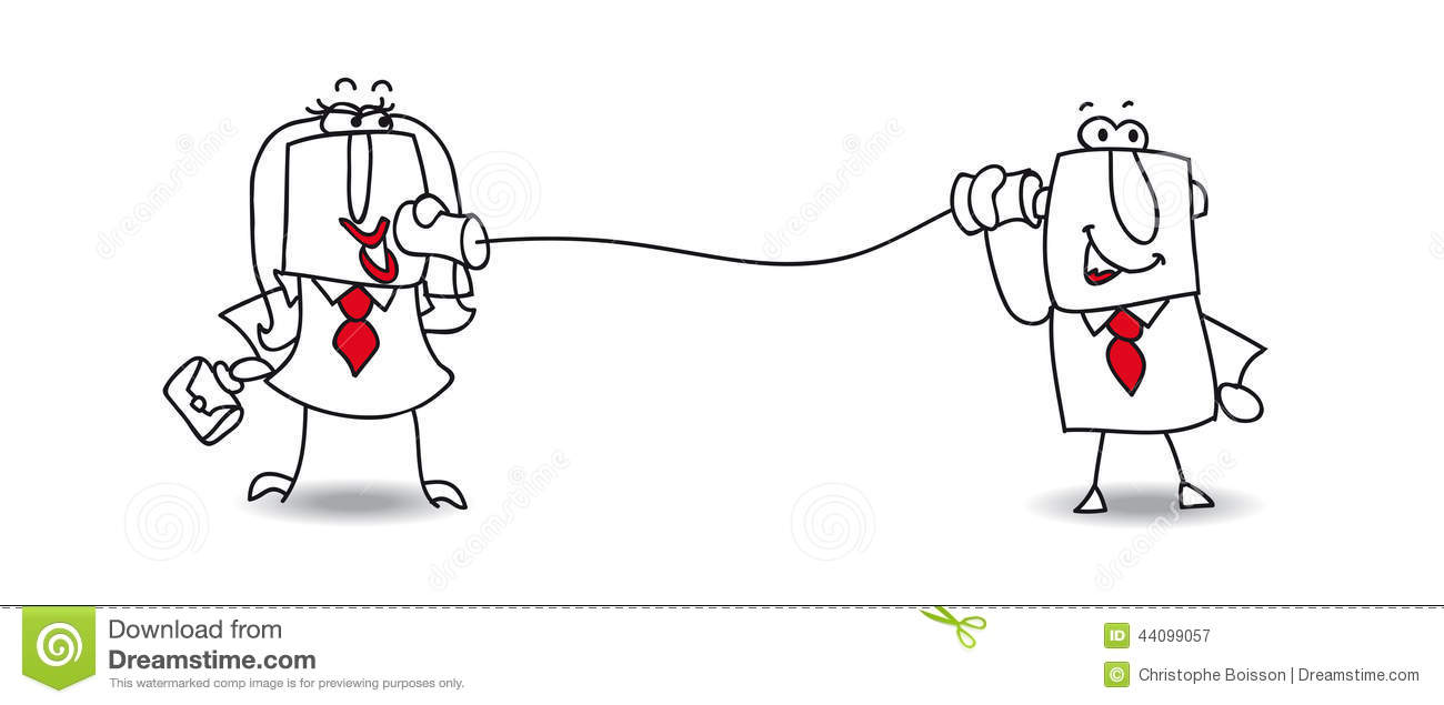 Communication between two persons