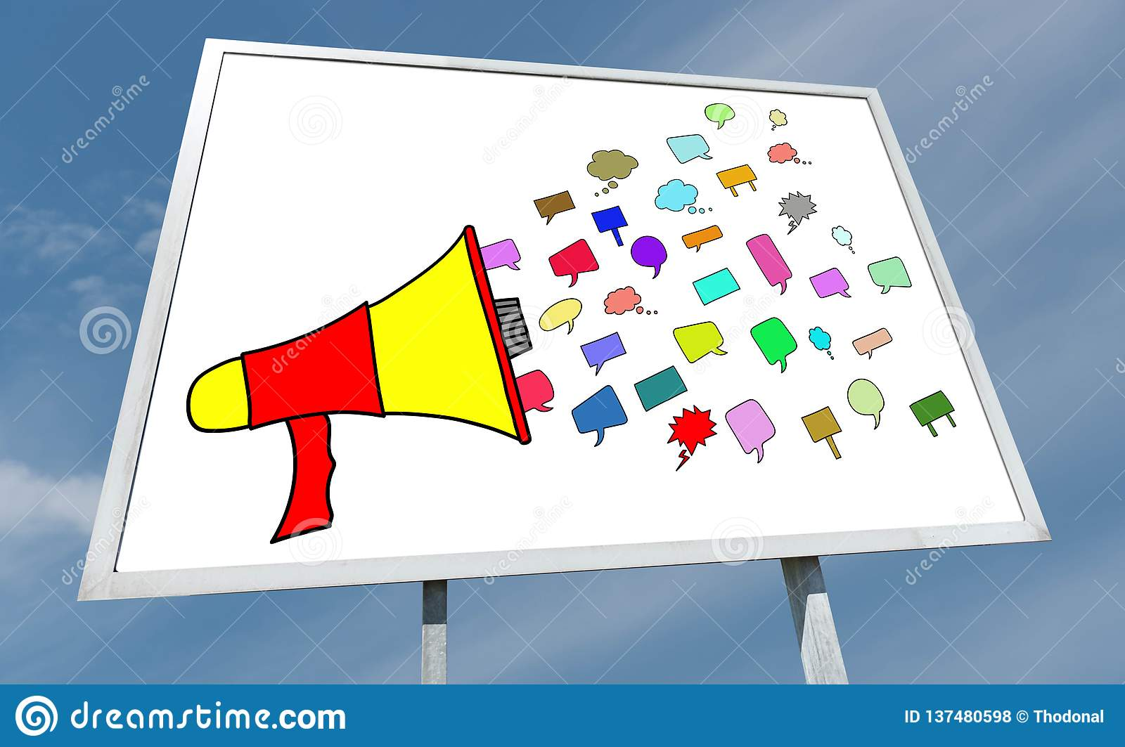 Communication concept on a billboard. Communication concept drawn on a billboard royalty free stock photos