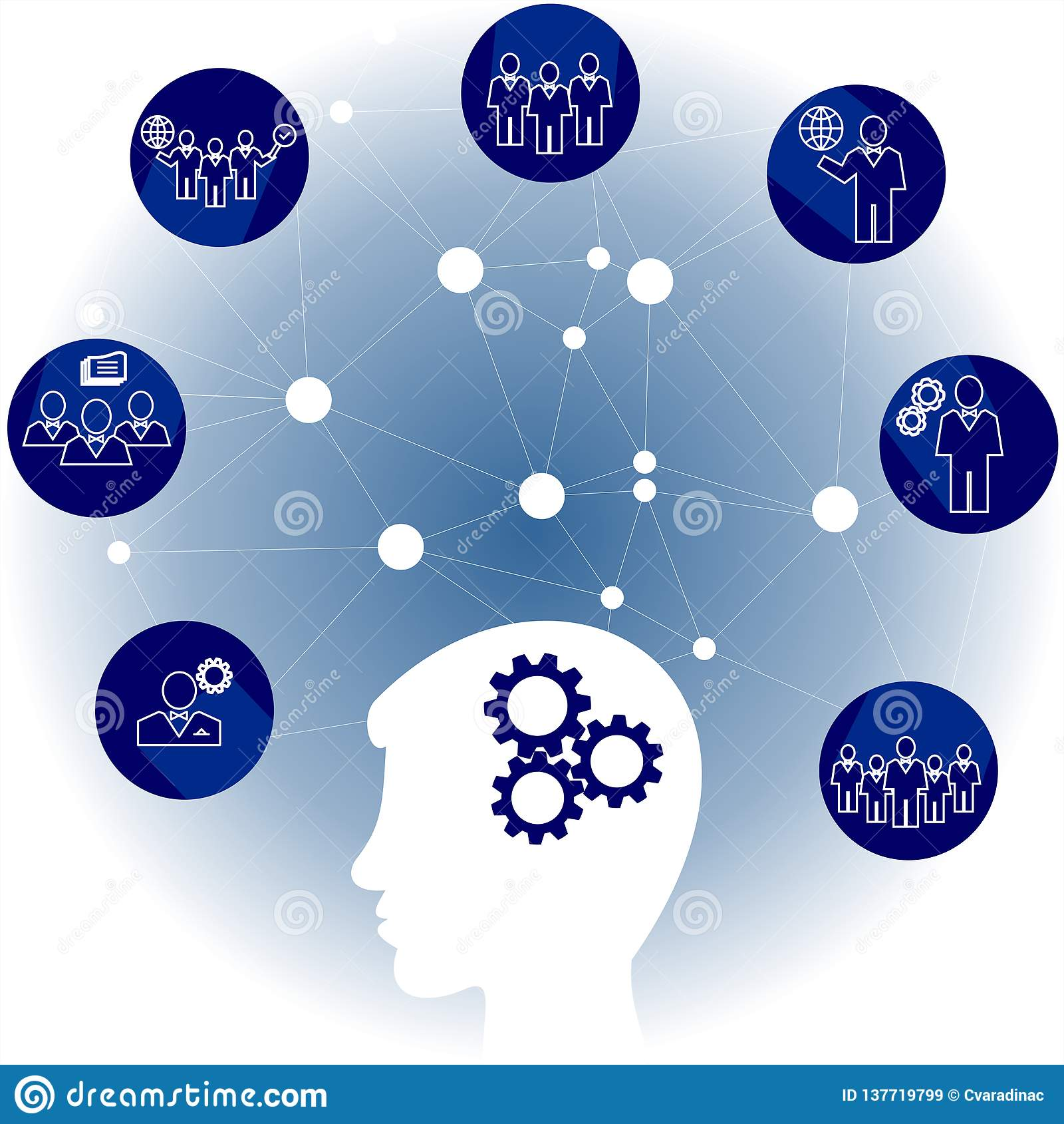 Communication de réseau dans le réseau global Personnes de connexion infographic