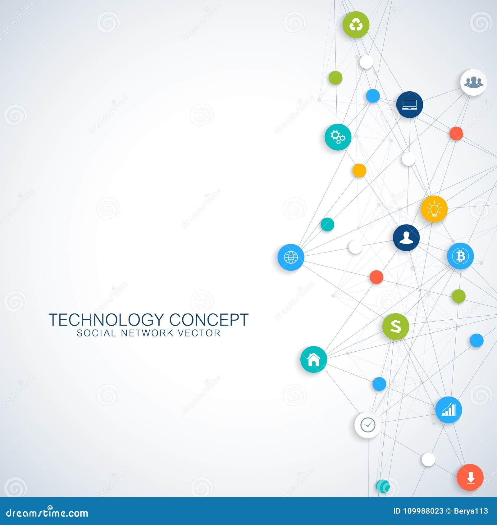 Communication graphique géométrique de fond Opacifiez le calcul et la conception de l avant-projet globale de connexions réseau G