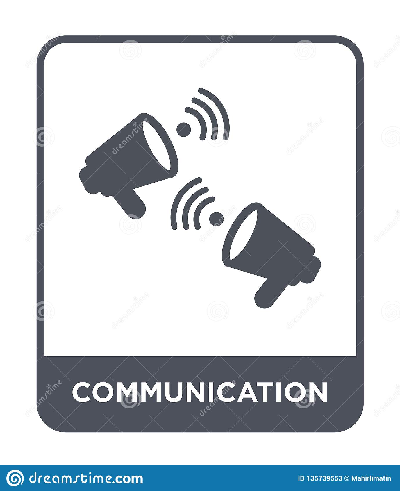 communication icon in trendy design style. communication icon isolated on white background. communication vector icon simple and