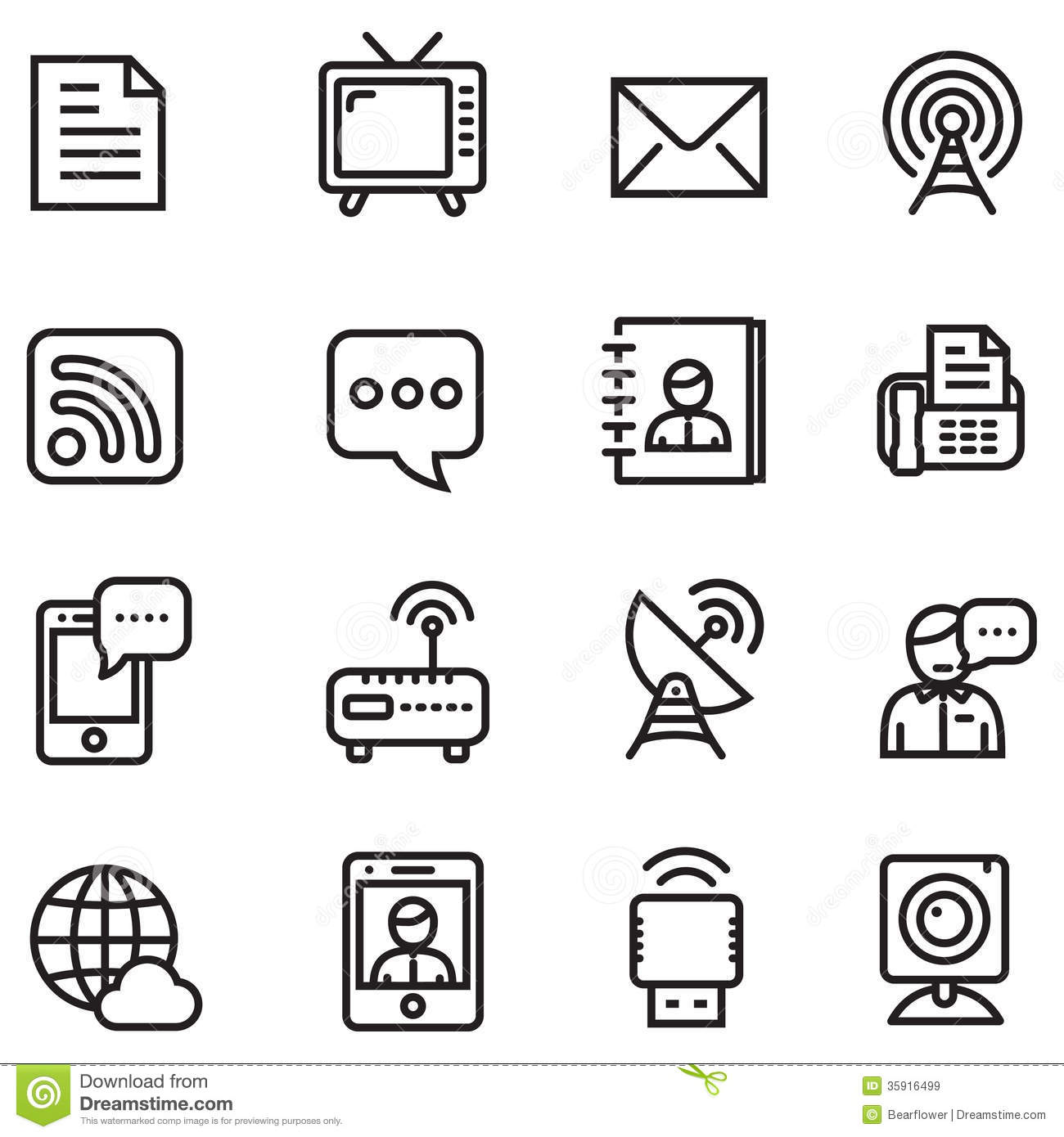 Communication Icons Royalty Free Stock Images Image