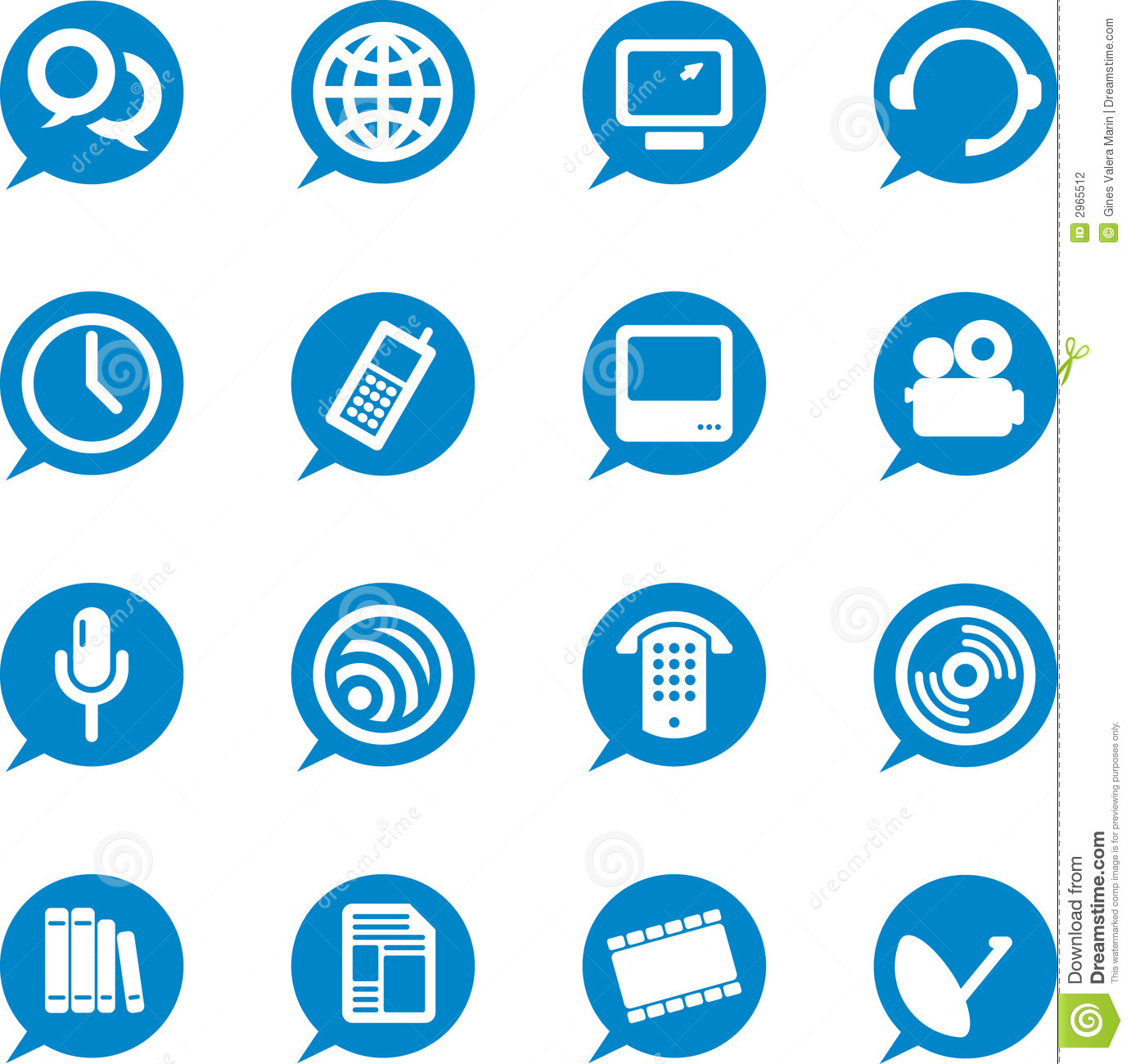 Communication Icons (vector) Stock Vector