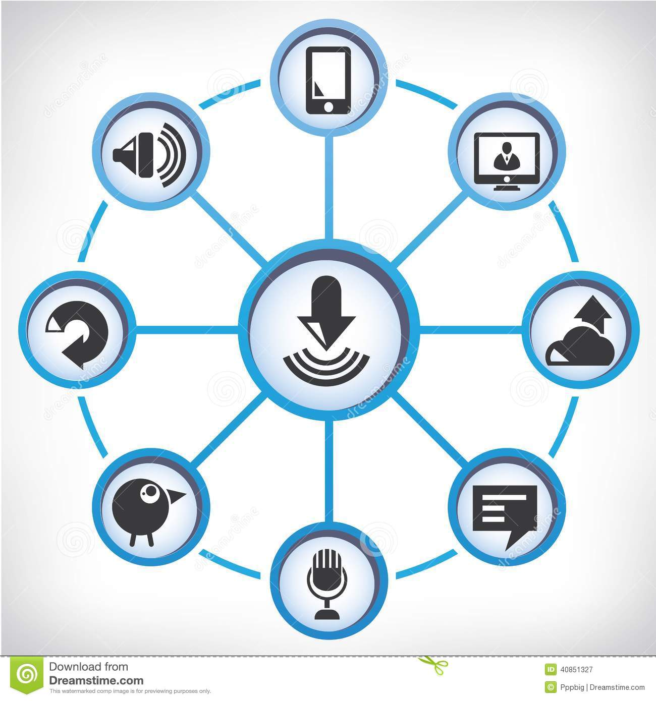 communication network diagram stock illustration   image    communication network diagram