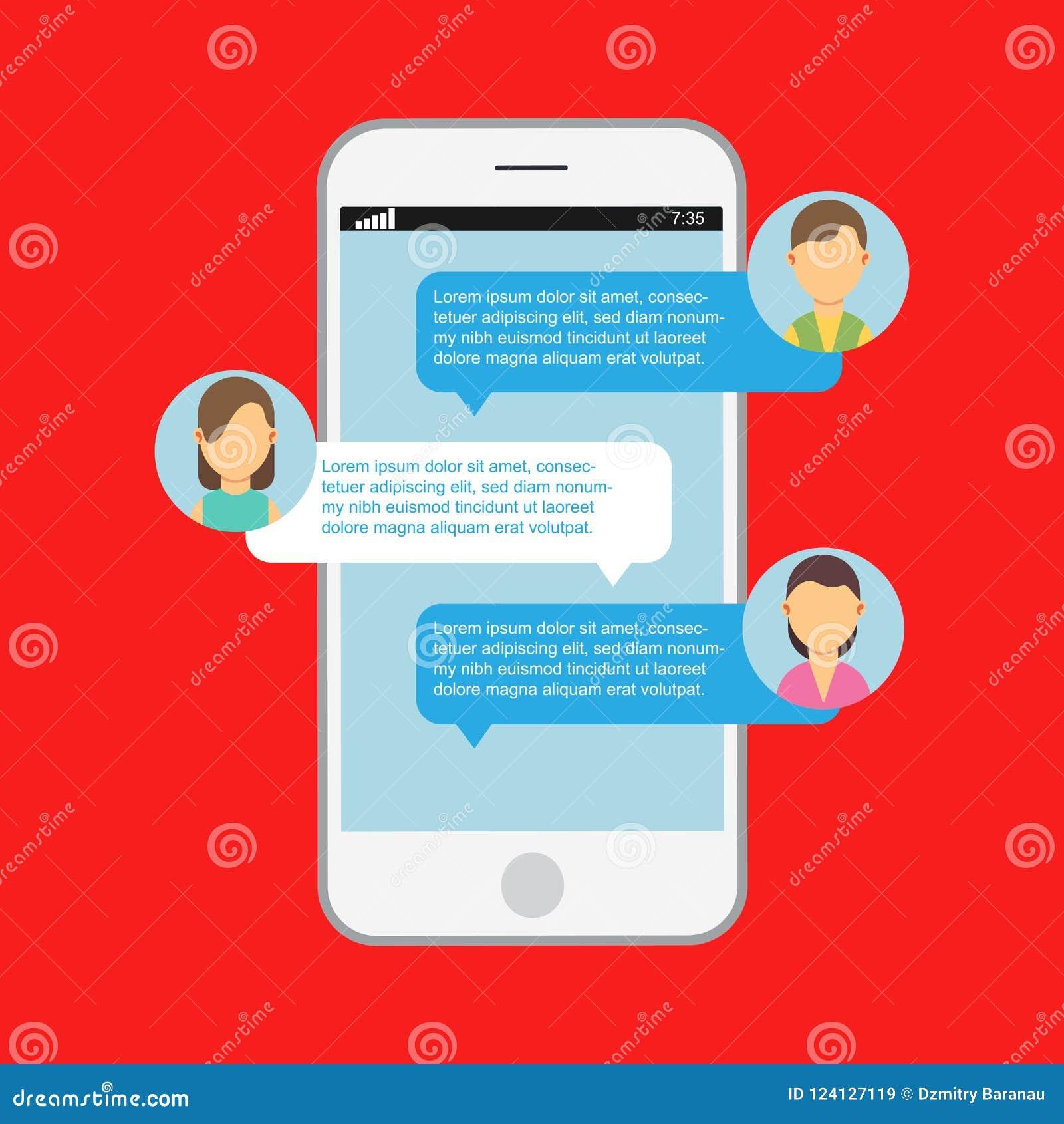Communication Online Chat  Web Notification Messenger Mobile