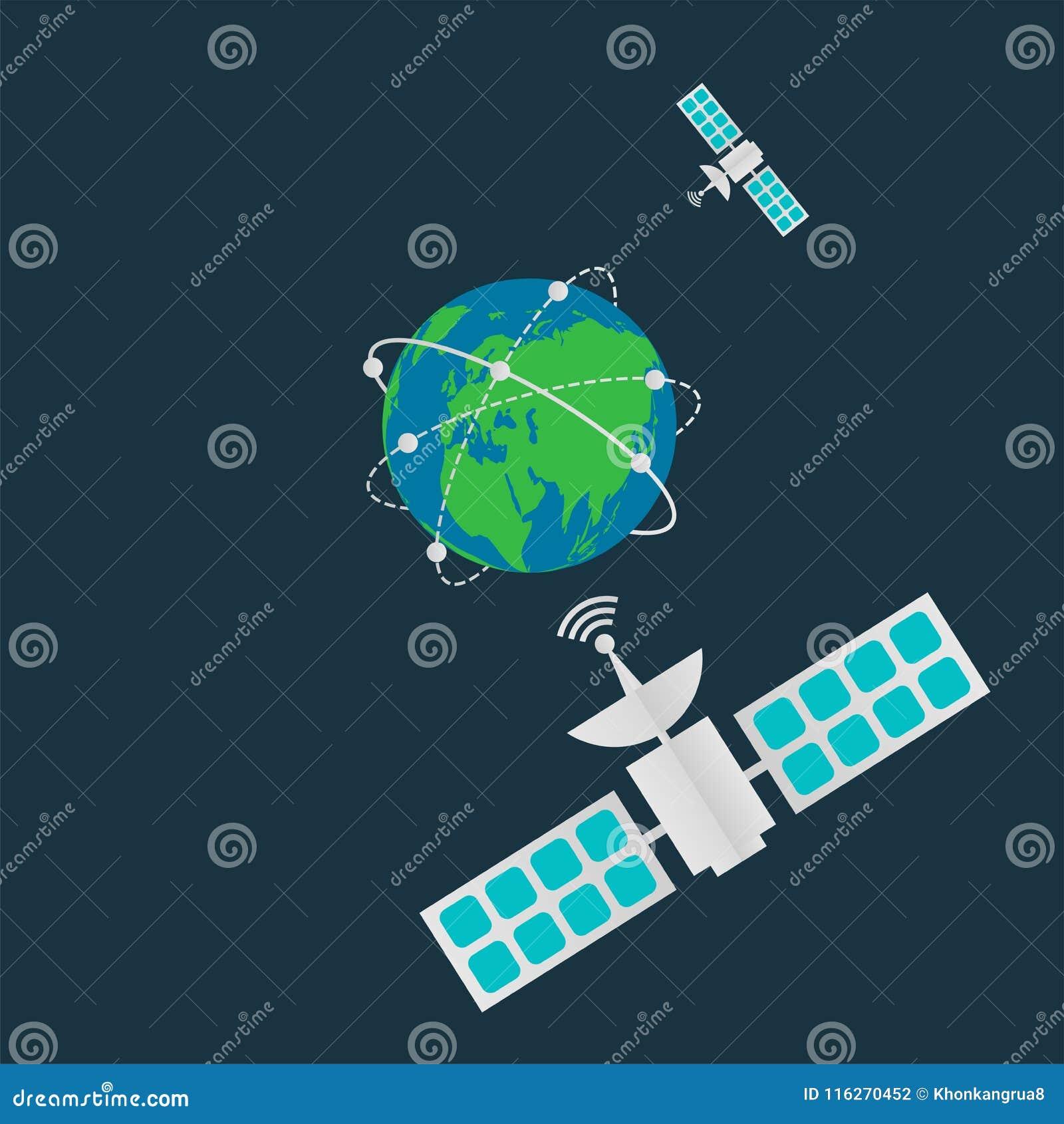 Communication Satellite Obeting Diagram Trusted Schematics Schematic Wiring Whirlpool M Ed22ekxp Satellites In Orbit Earthdigital Terrestrial