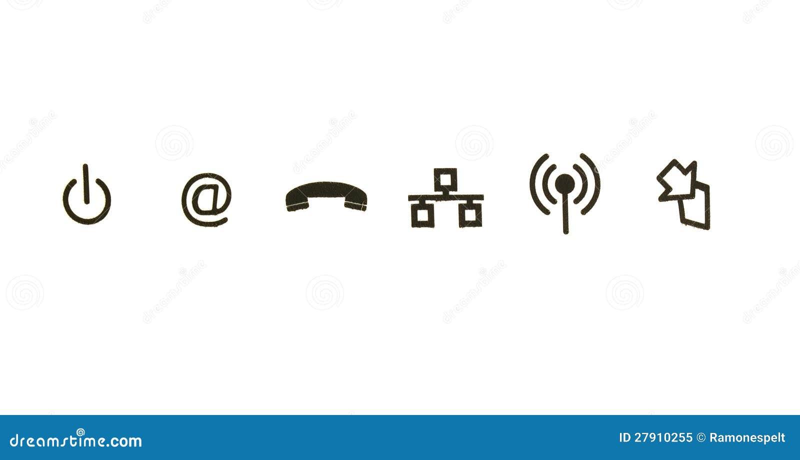 communication symbols royalty free stock photo
