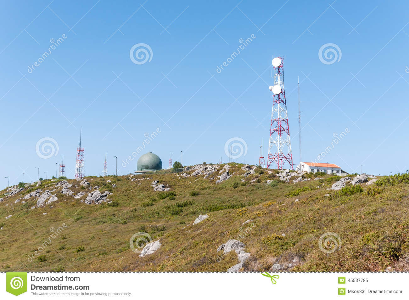 Communication tower on the top of Foia Mountain