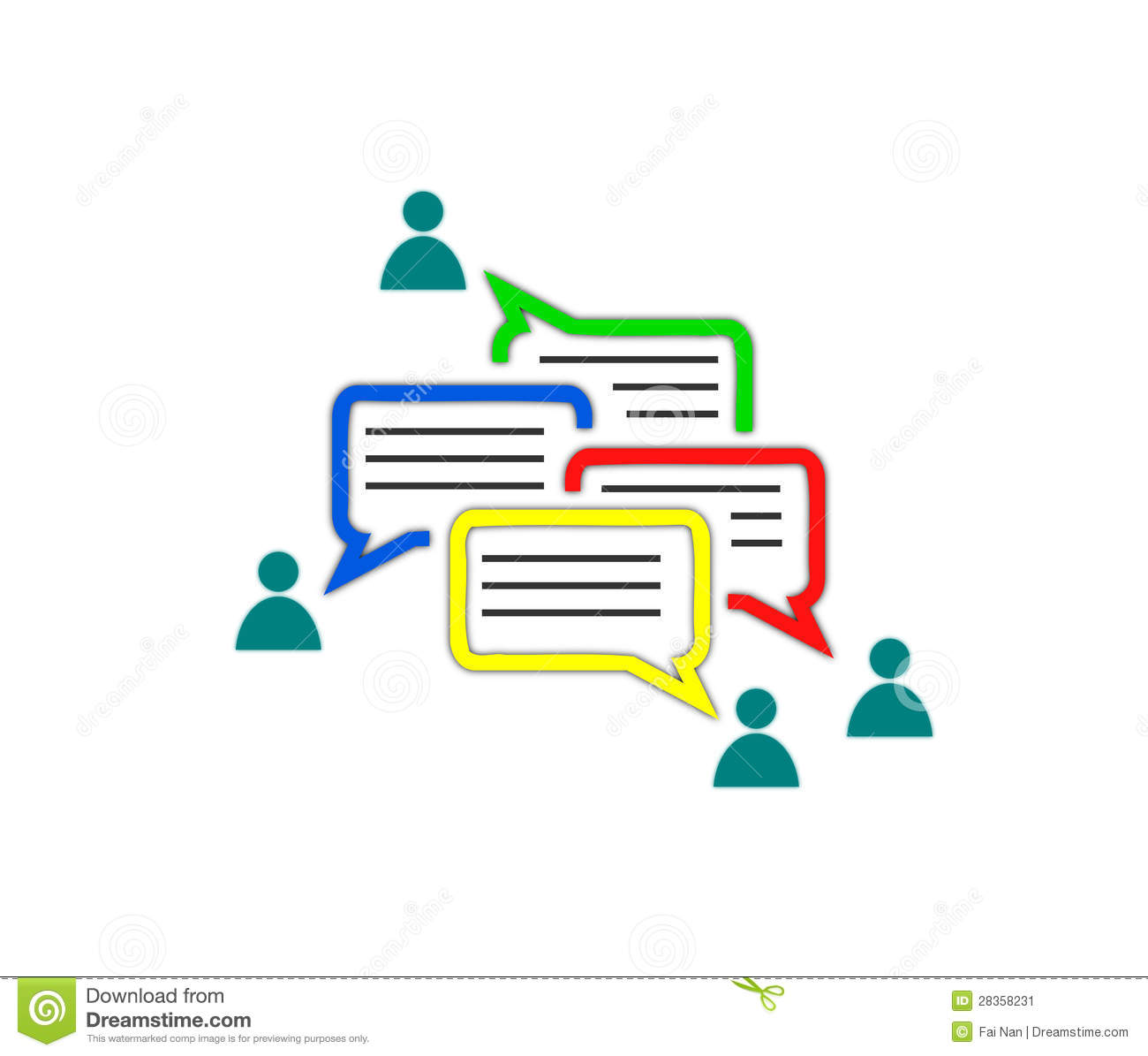 Communication In Virtual Community Concept Stock Image - Image ...
